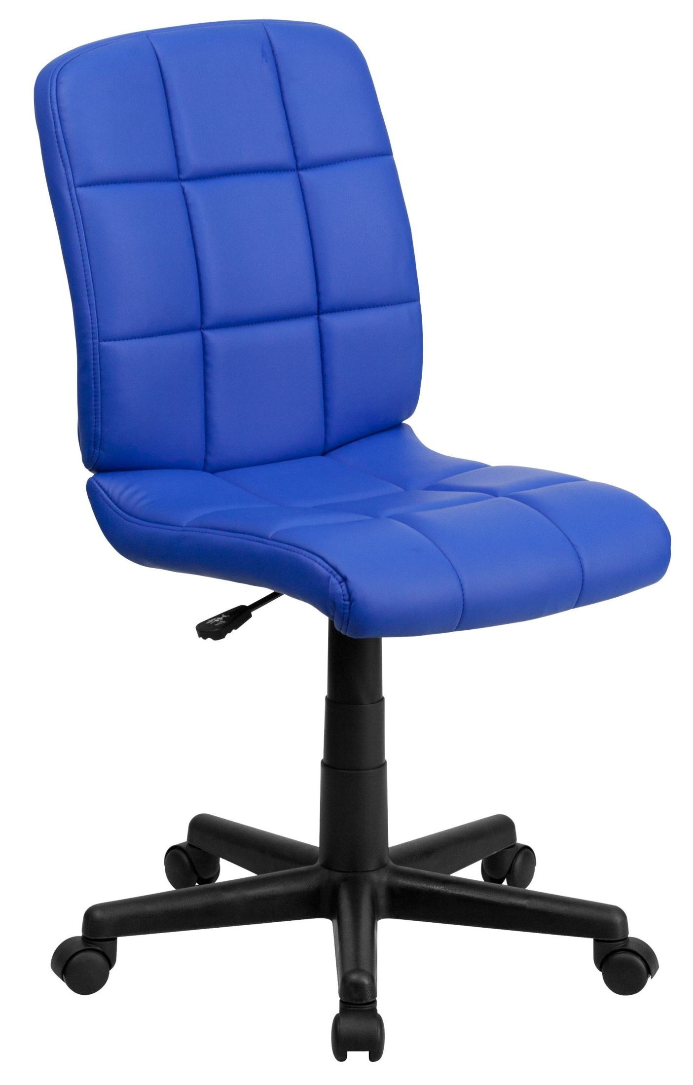Mid Back Blue Quilted Vinyl Task Chair From Renegade Go