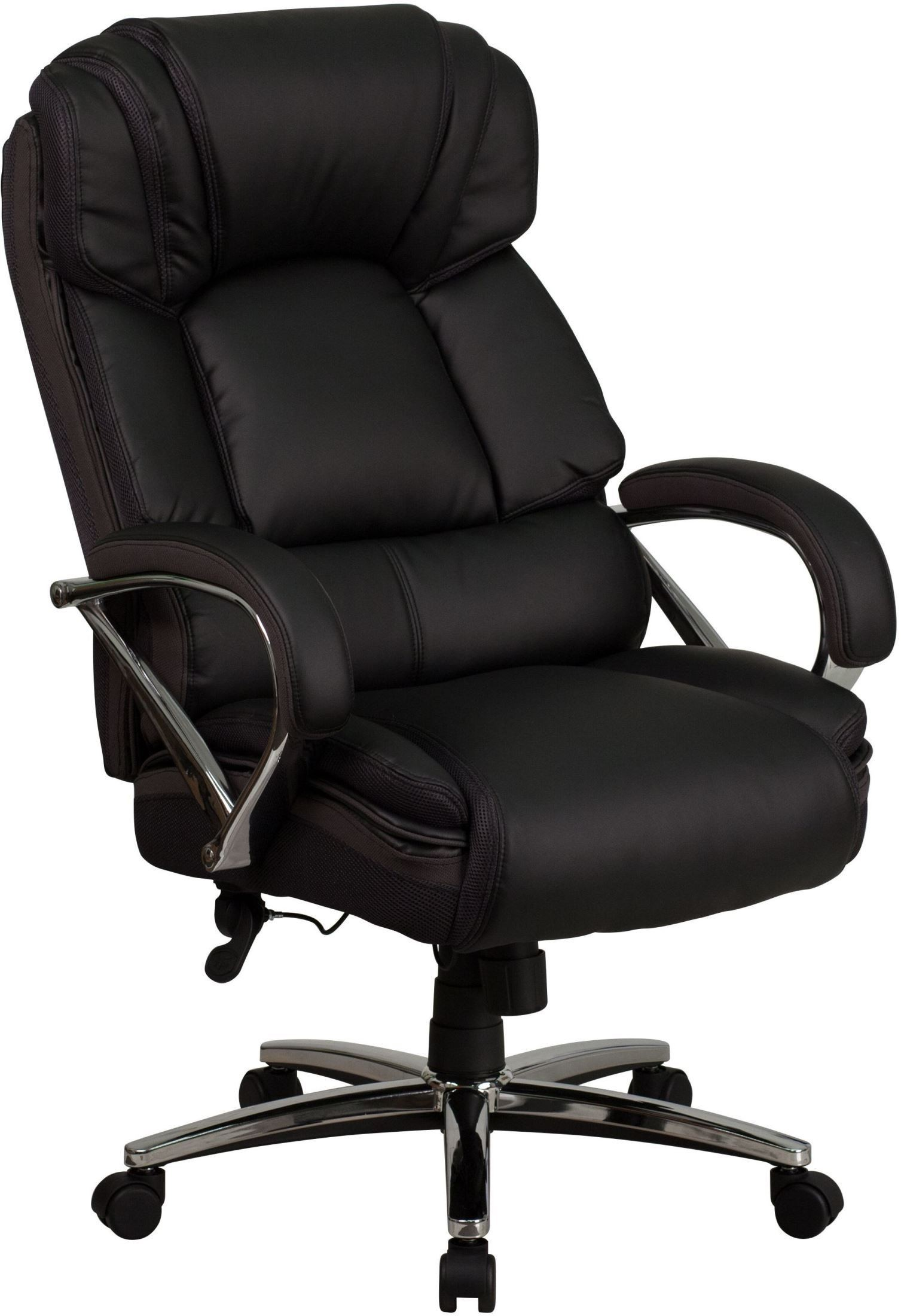 hercules series big tall black leather executive swivel office arm chair go 2222 gg renegade. Black Bedroom Furniture Sets. Home Design Ideas