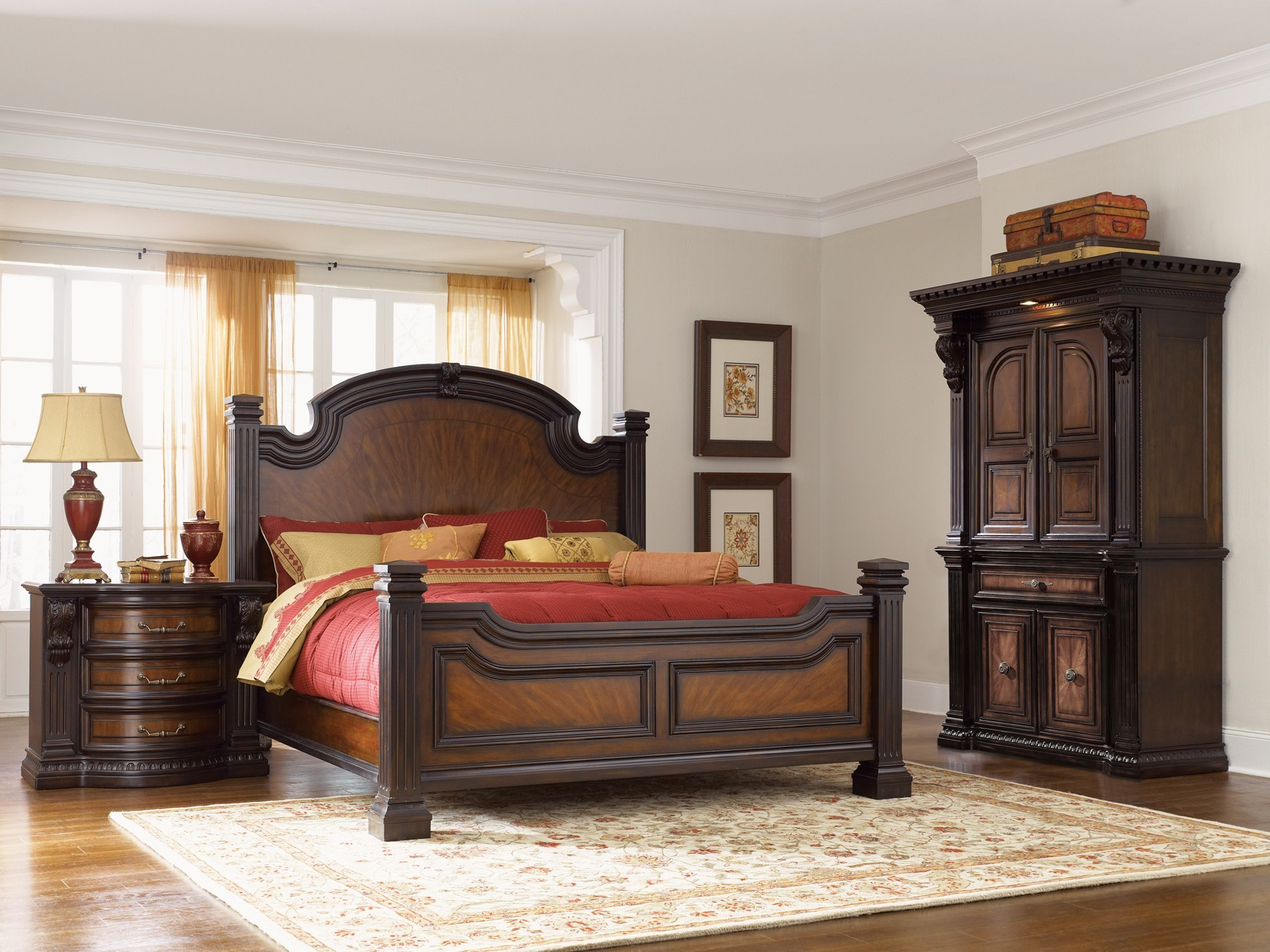 Fairmont designs grand estates panel bedroom set c7102 for Grand bedroom designs