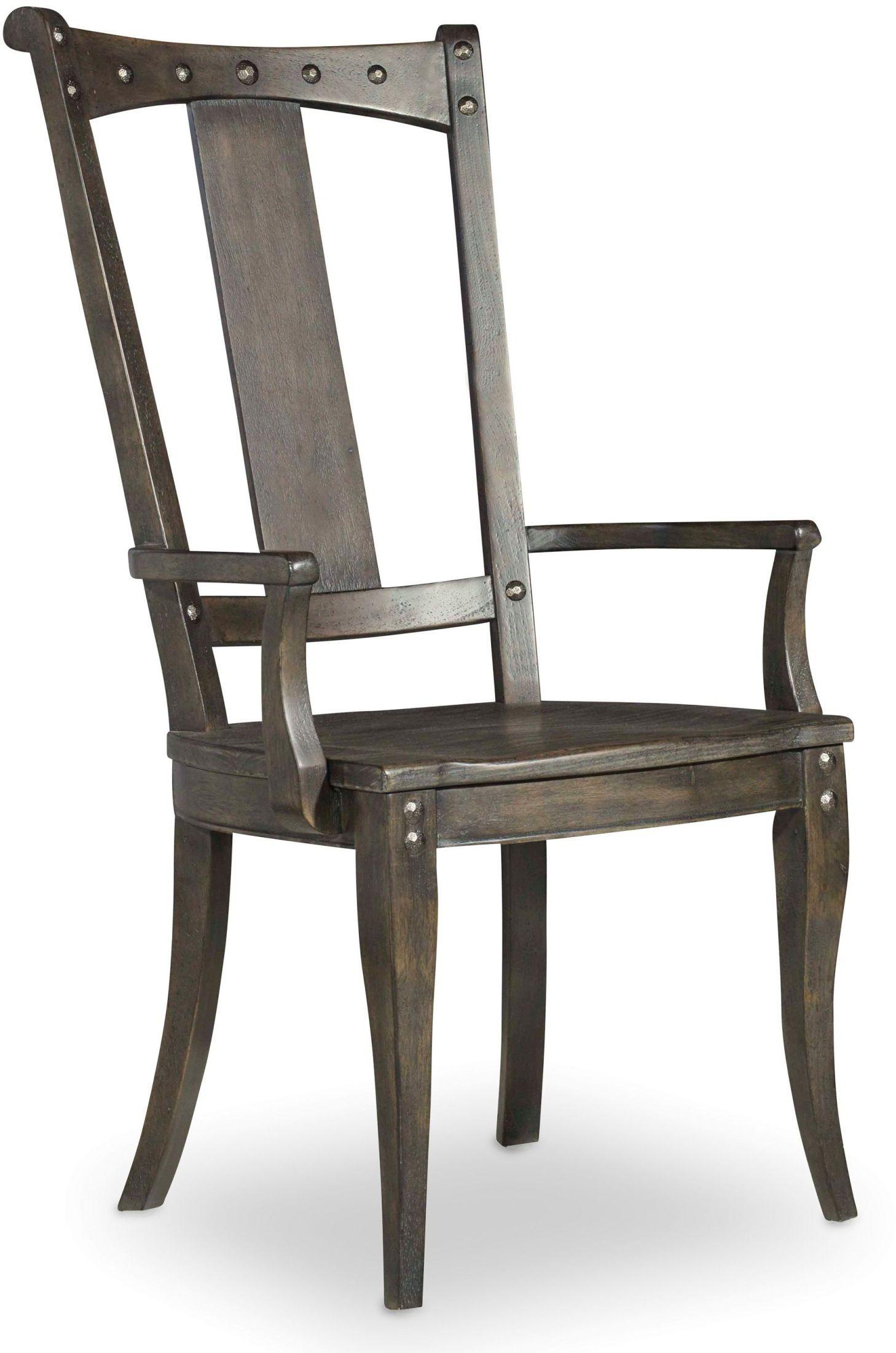 Vintage West Charcoal Gray Splatback Arm Chair Set Of 2 5700 75300 Hooker F