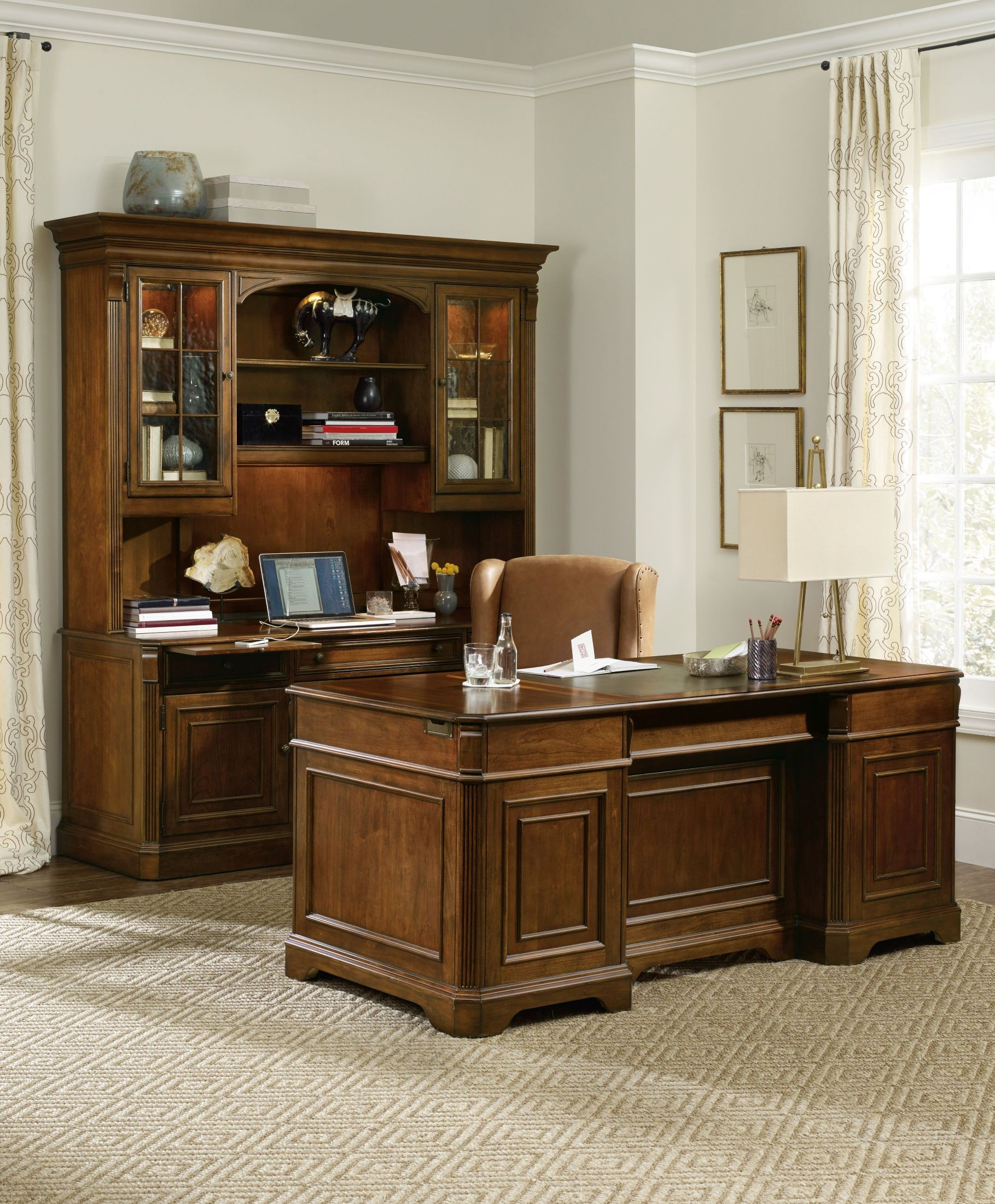 Brookhaven Cherry Home Office Set 281 10 583 Hooker Furniture