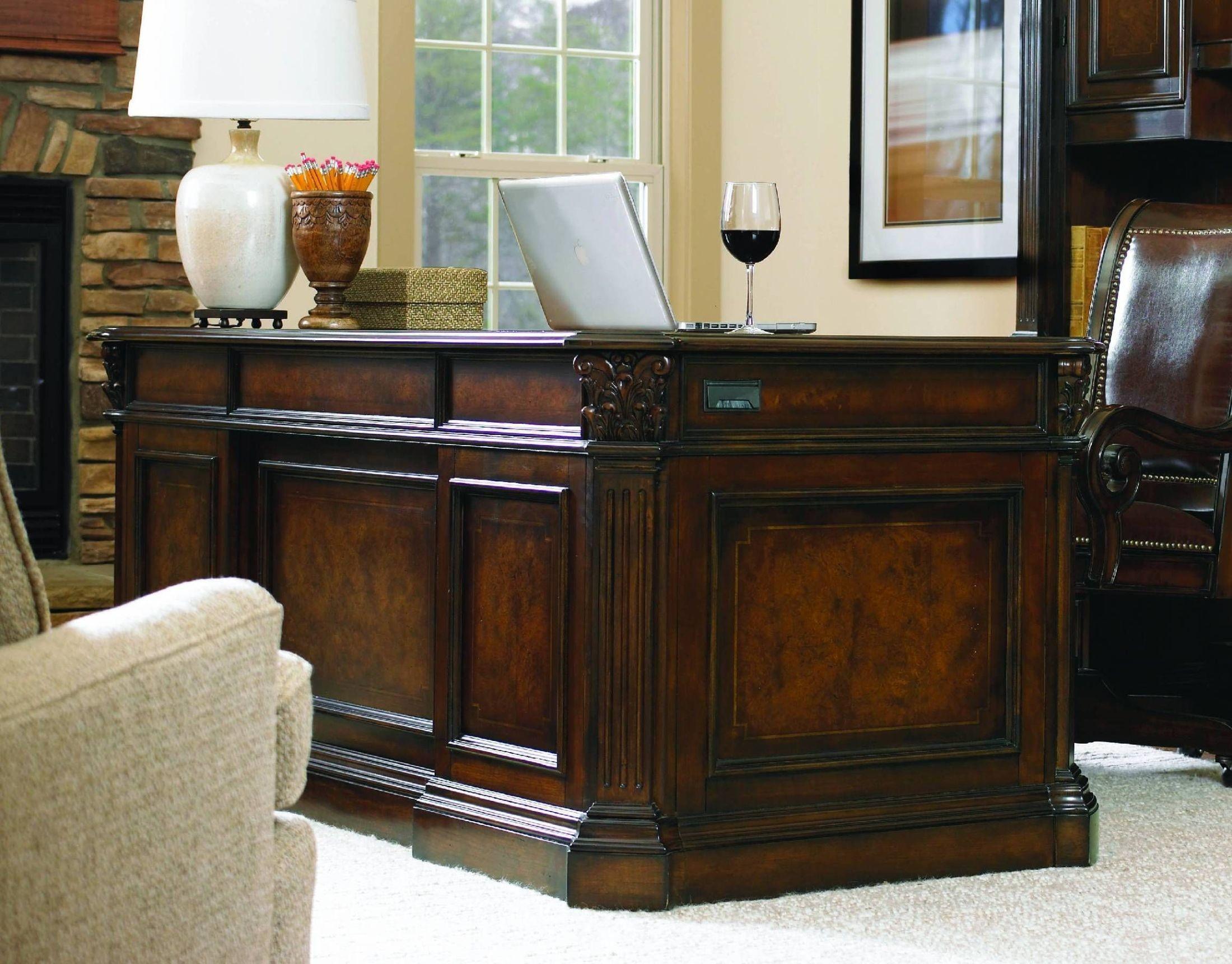 European Renaissance Ii Brown 73 Home Office Set 374 10