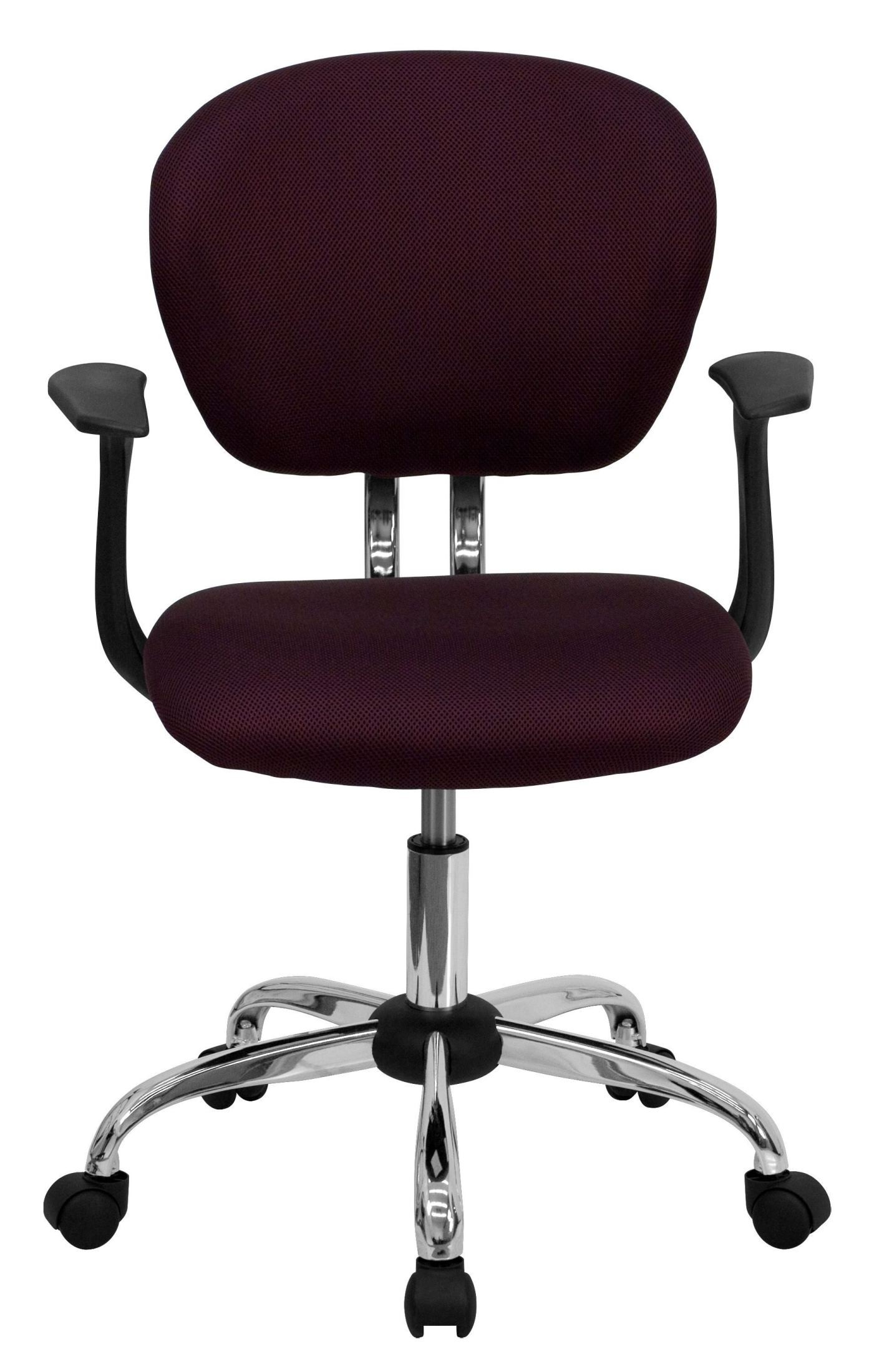 Mid Back Burgundy Mesh Arm Task Chair From Renegade H