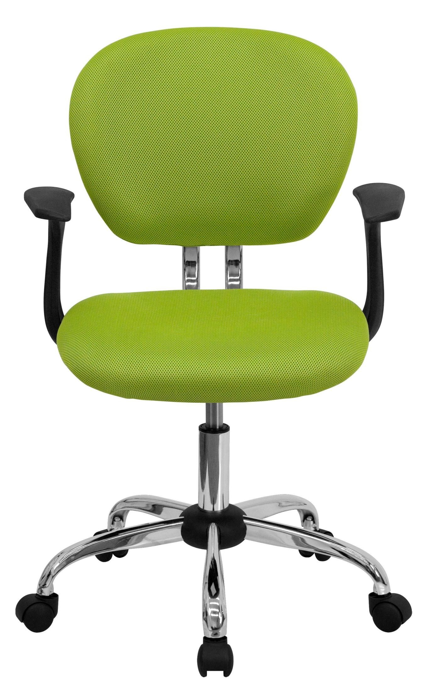 Mid Back Apple Green Arm Task Chair H 2376 F GN ARMS GG Renegade Furniture