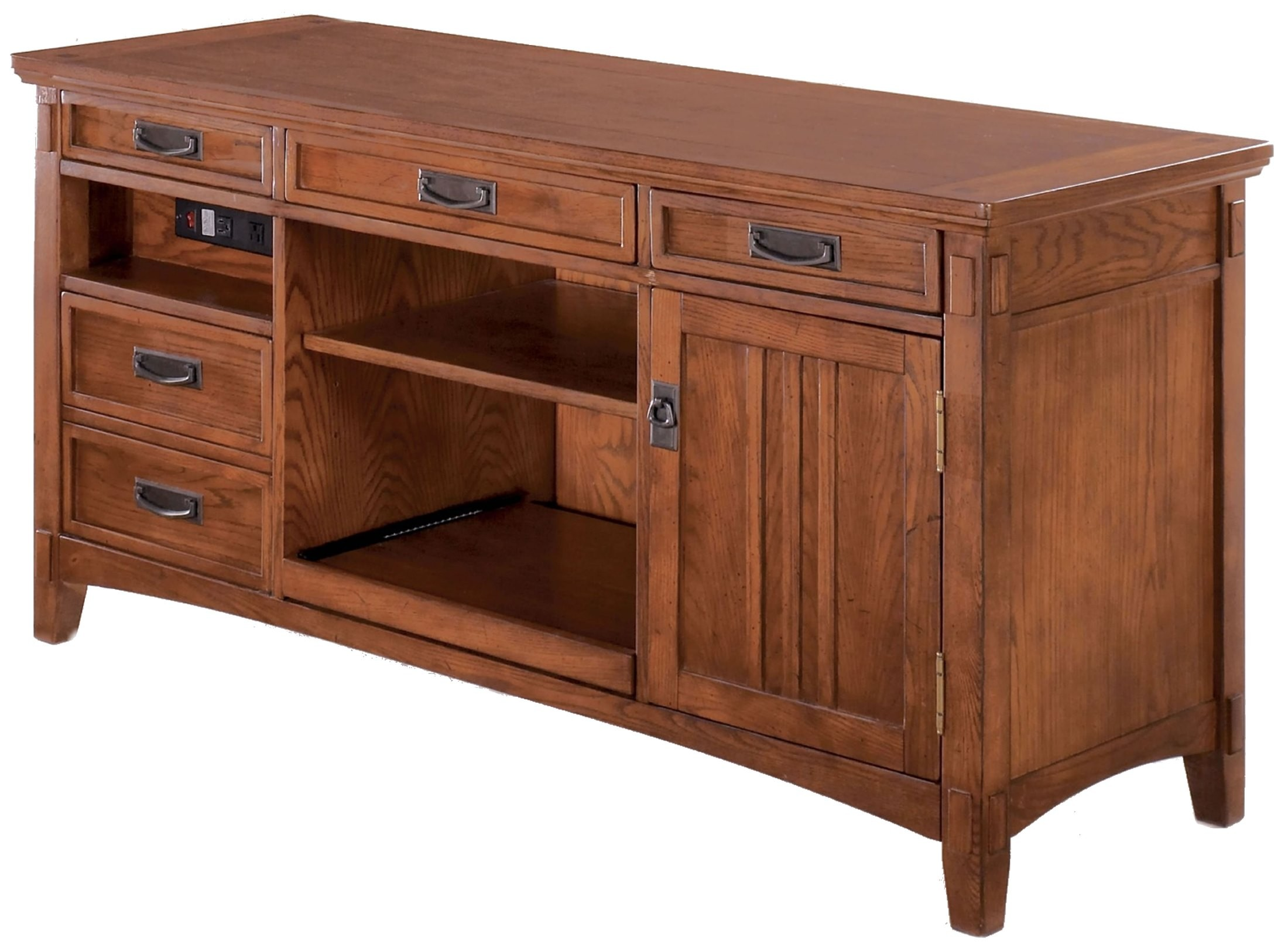 Cross Island Credenza Home Office Set From Ashley H319 Coleman Furniture