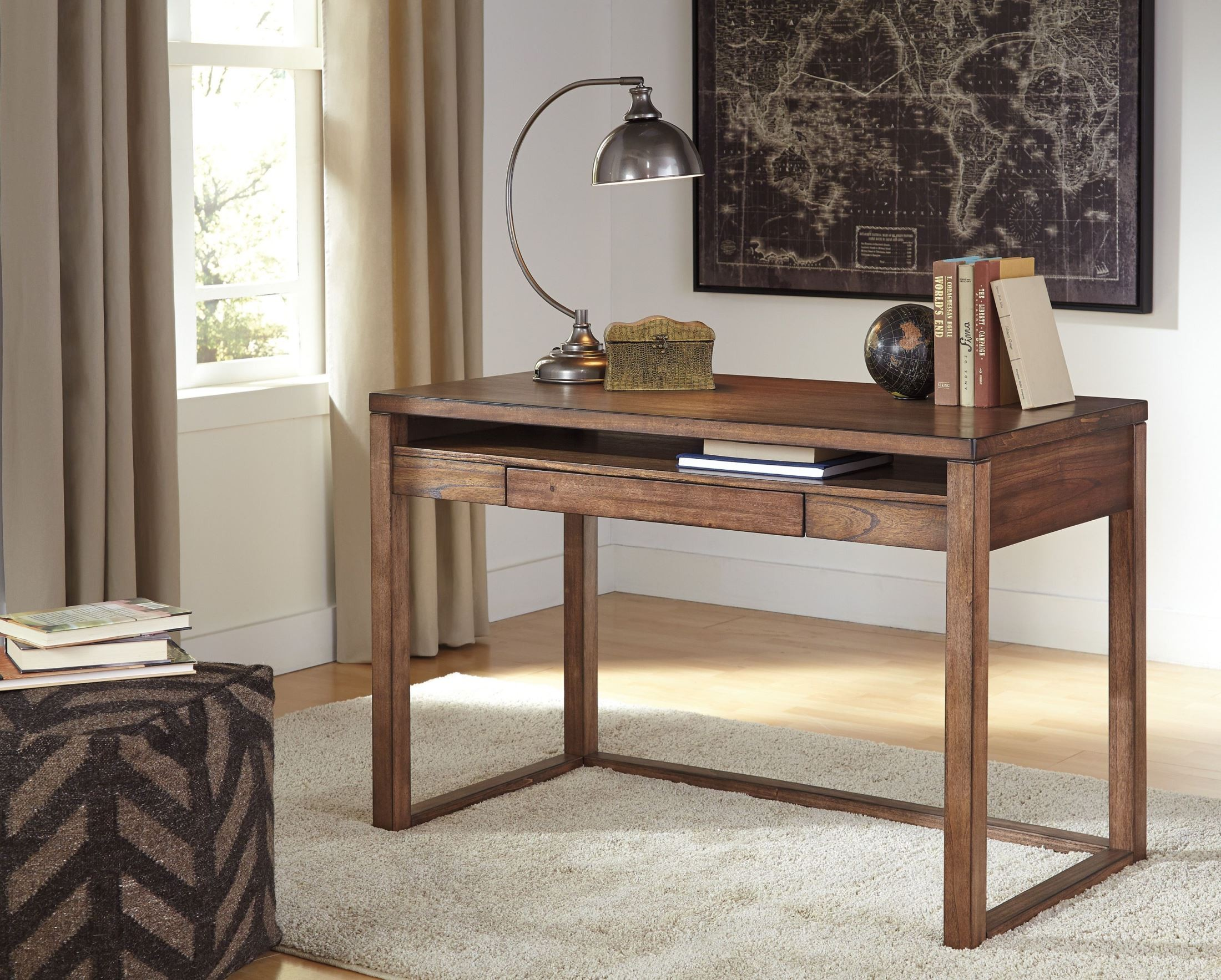 baybrin rustic brown home office small desk from ashley h587 10 coleman furniture. Black Bedroom Furniture Sets. Home Design Ideas