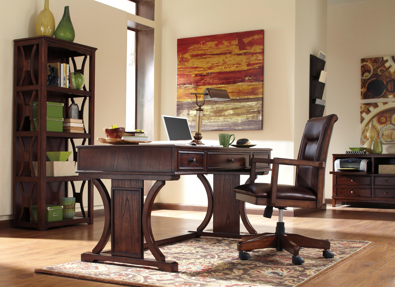 Devrik home office desk from ashley h619 27 coleman furniture - Devrik home office desk ...