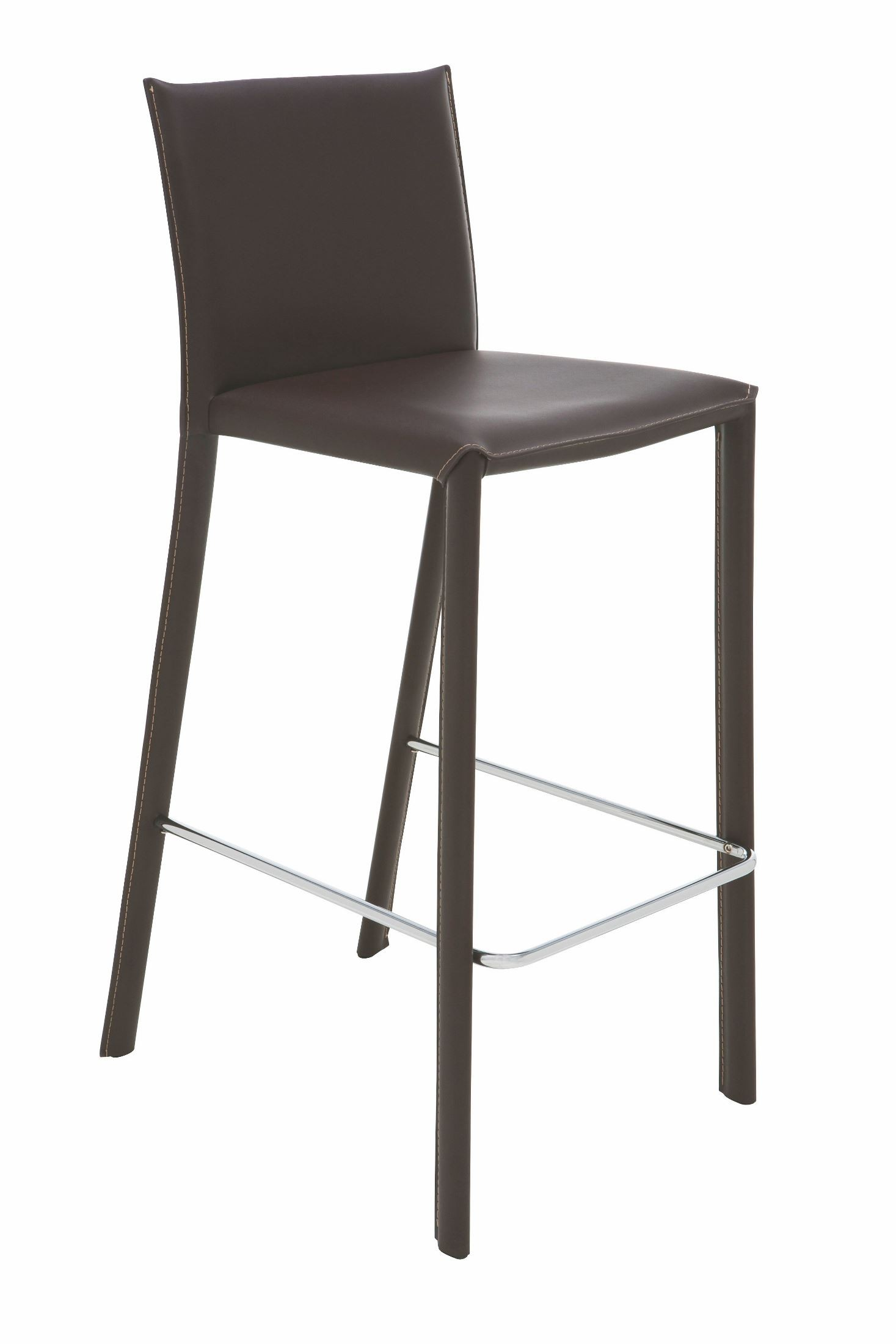Bridget Brown Leather Bar Stool Hgaf148 Nuevo