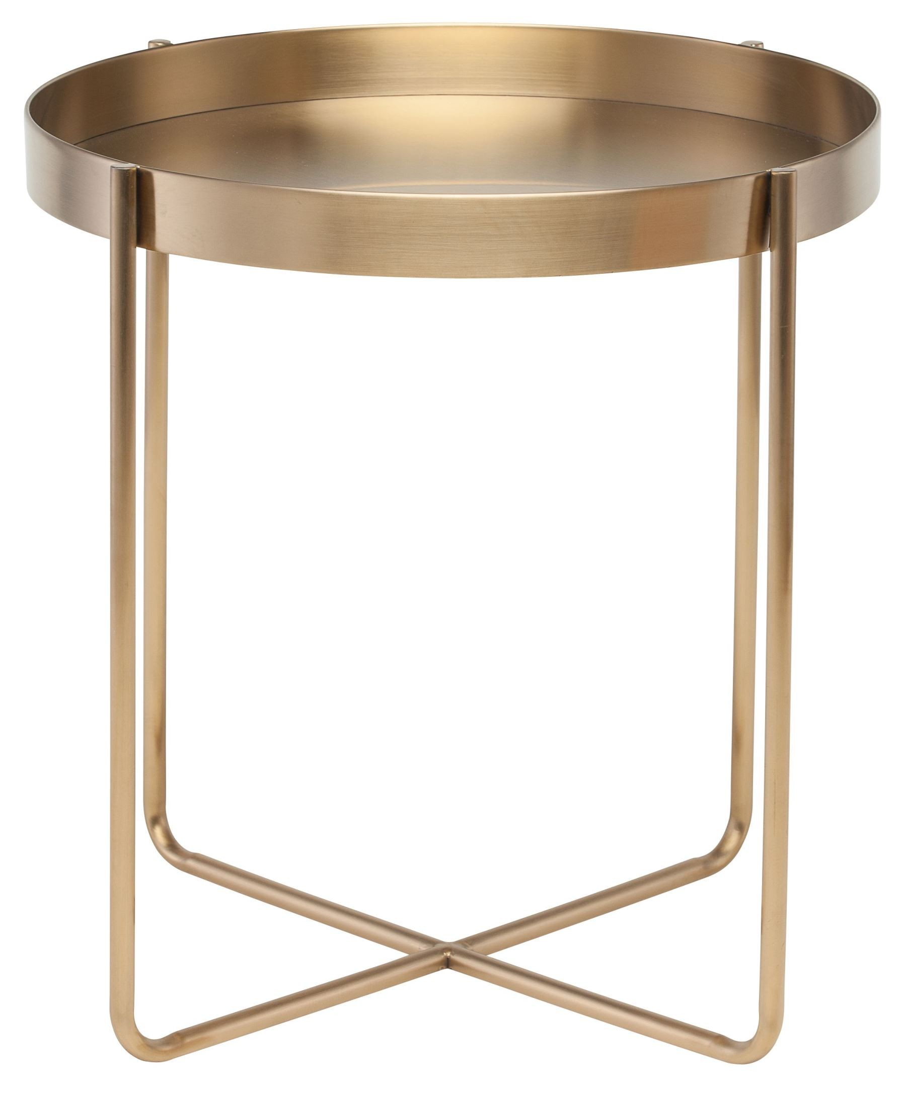 Metal End Tables ~ Gaultier gold metal side table hgde nuevo
