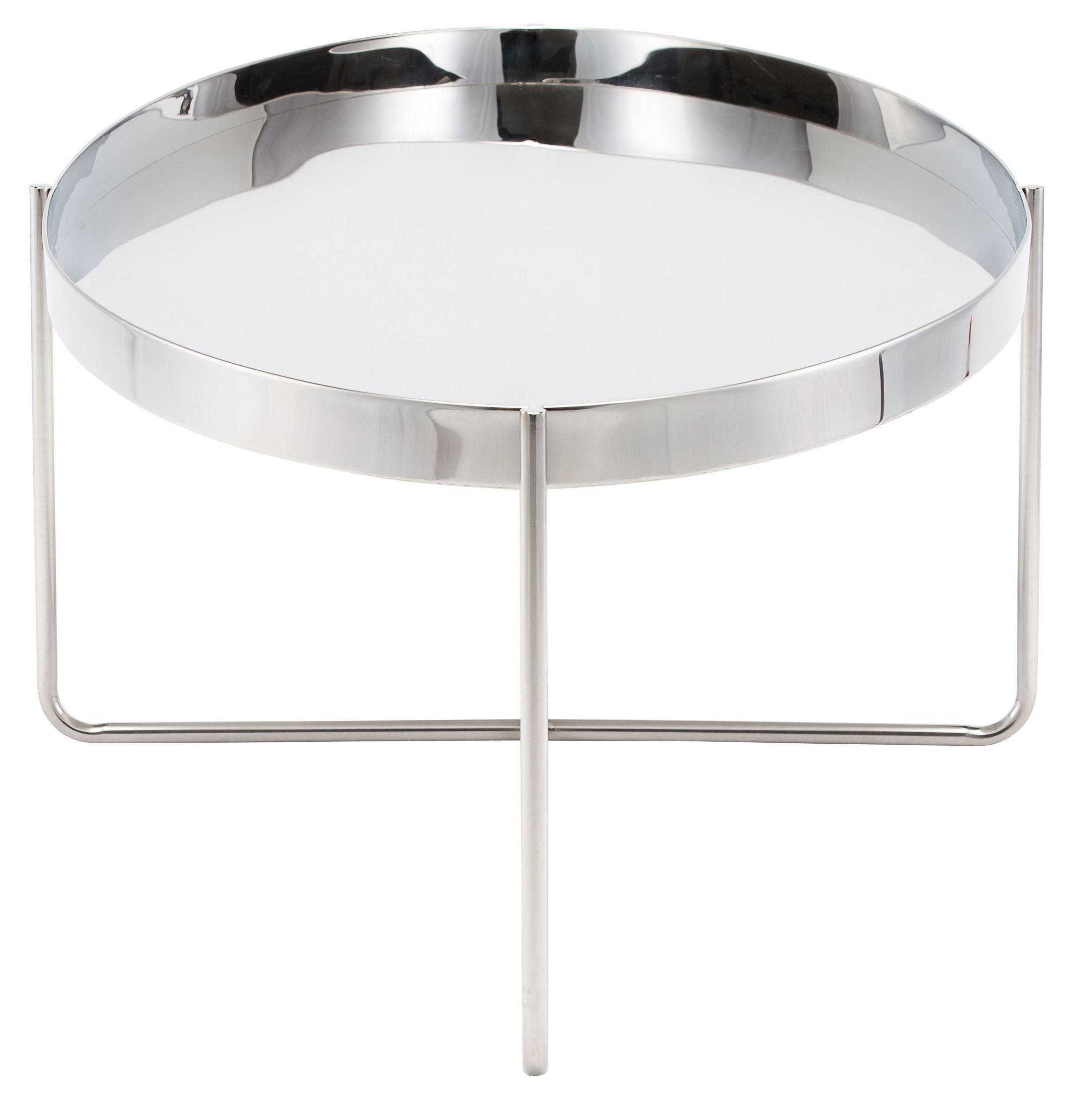 Gaultier Silver Metal Coffee Table, HGDE128, Nuevo