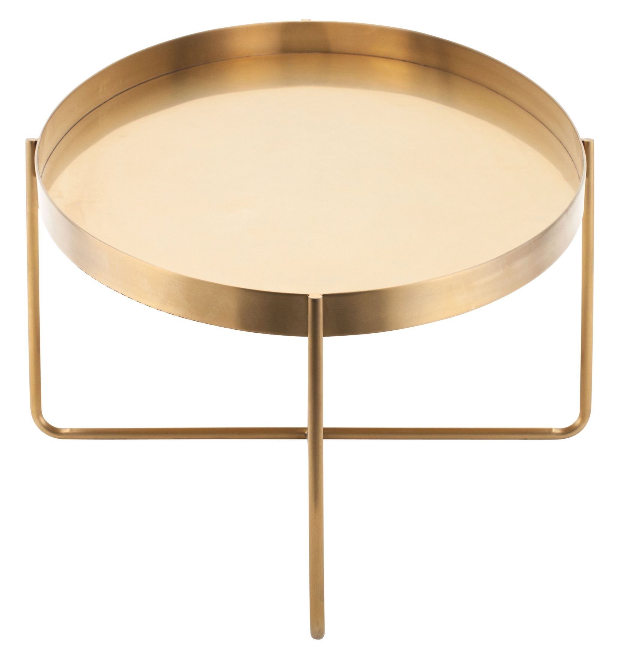 Gaultier 54 gold metal coffee table hgde130 nuevo Gold metal coffee table