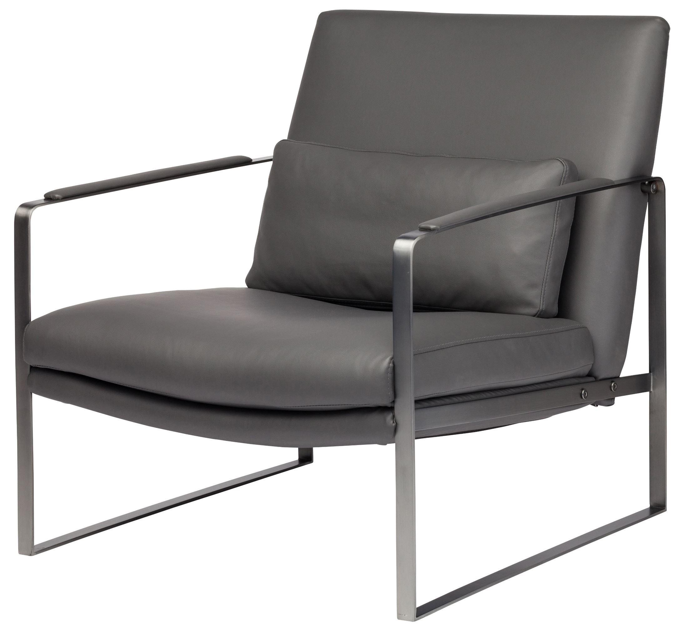 Leonardo Grey Naugahyde Lounger Chair HGDJ944 Nuevo