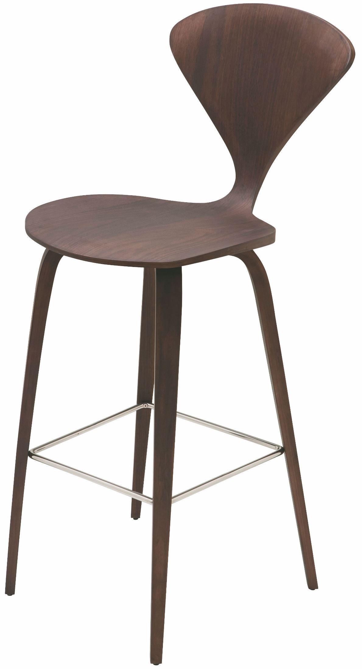 Satine dark walnut wood bar stool hgem353 nuevo for Dark wood bar stools