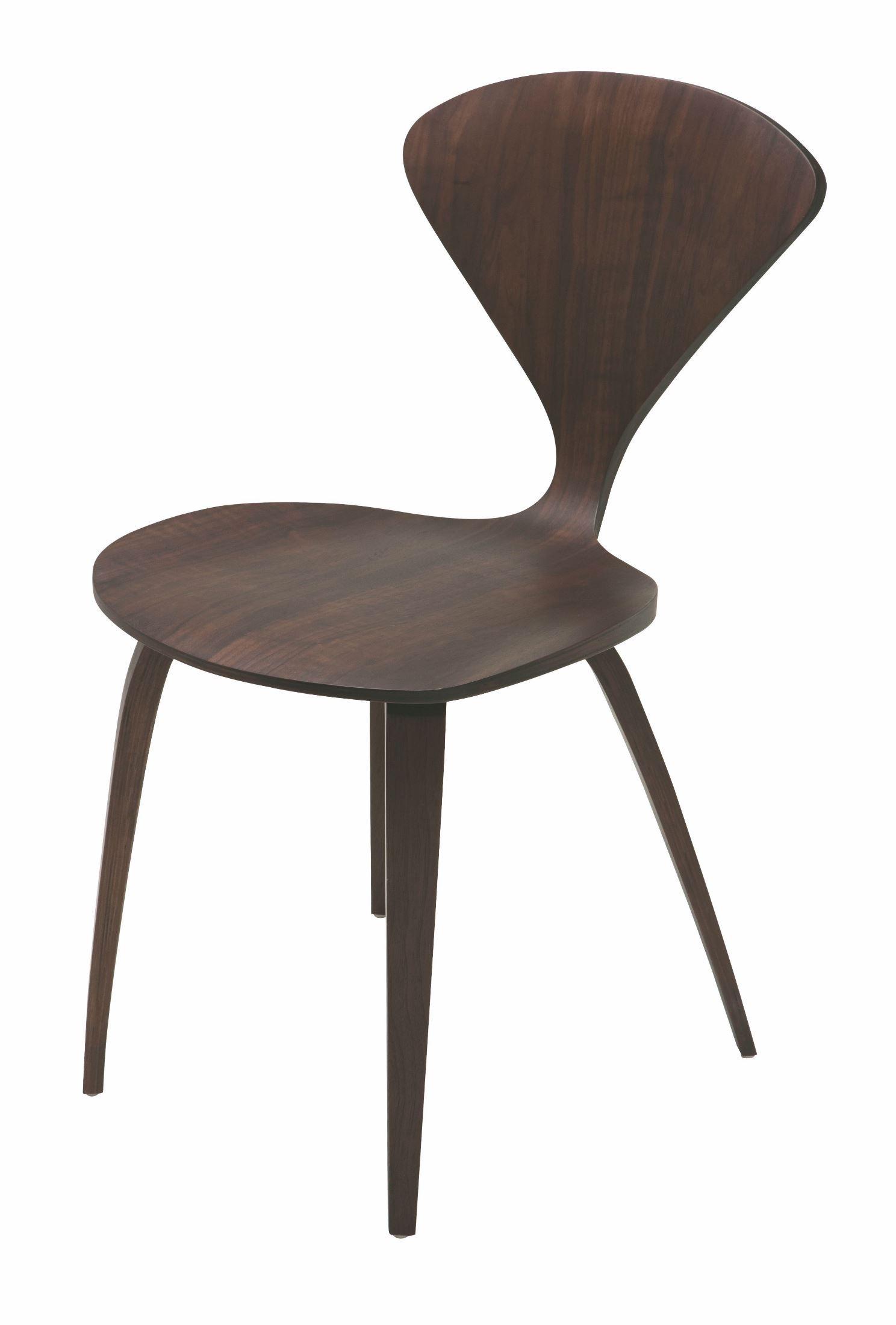 Satine dark walnut wood dining chair hgem358 nuevo for Dining chairs dark wood