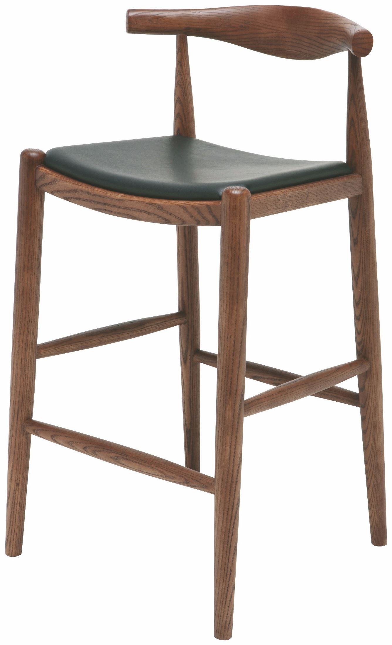 Maja Walnut Leather Counter Stool Hgem550 Nuevo
