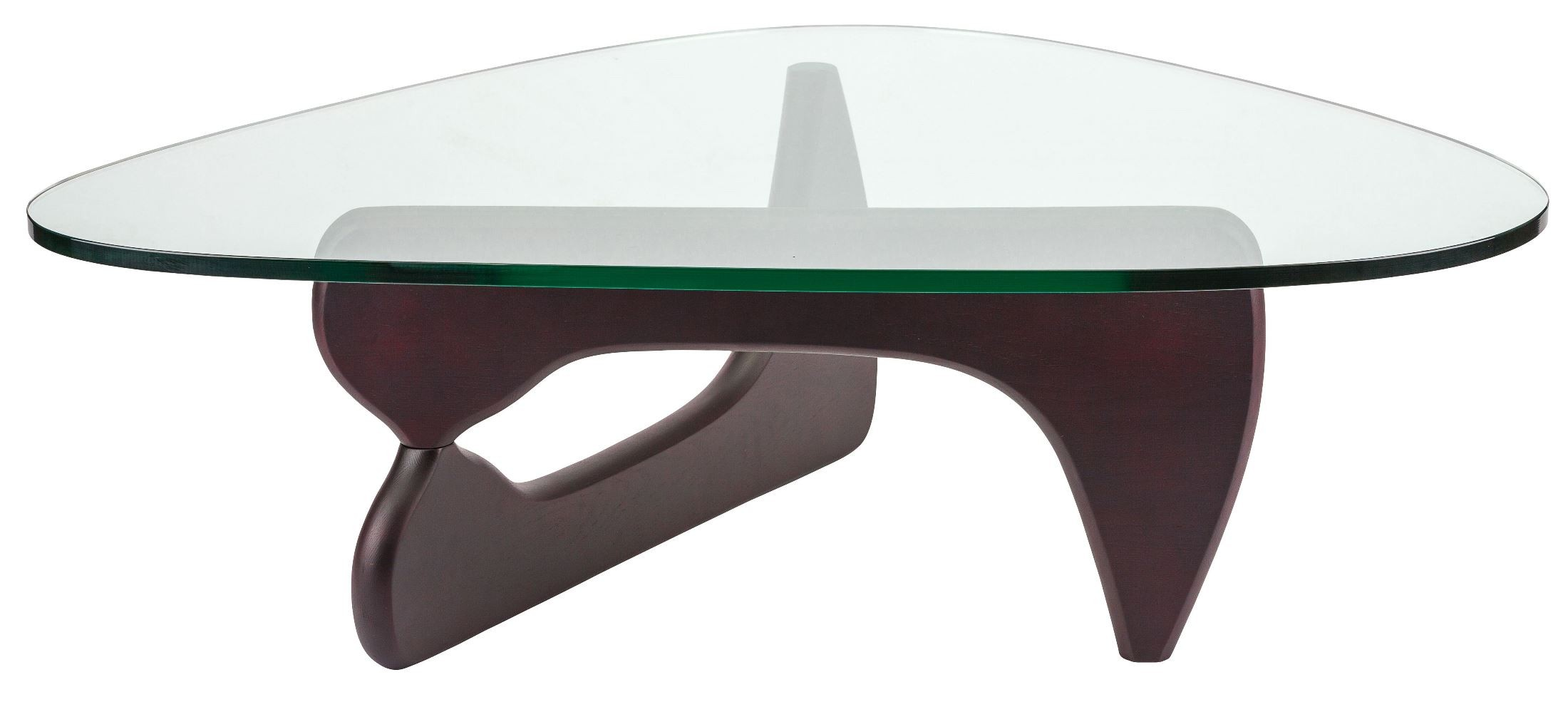 Yin Yang 49 Dark Brown Clear Glass Coffee Table Hgem570 Nuevo