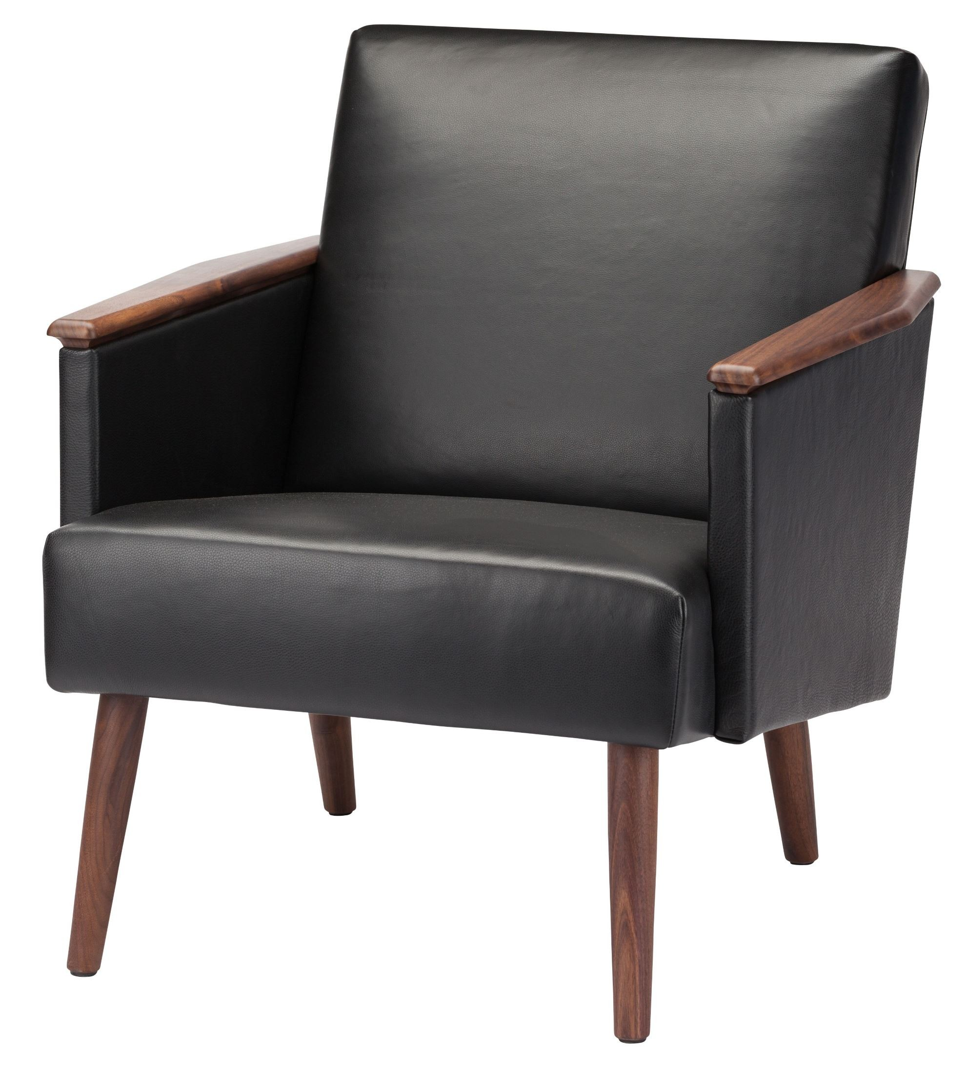 Jasper black leather occasional chair hgem636 nuevo for Occasional furniture