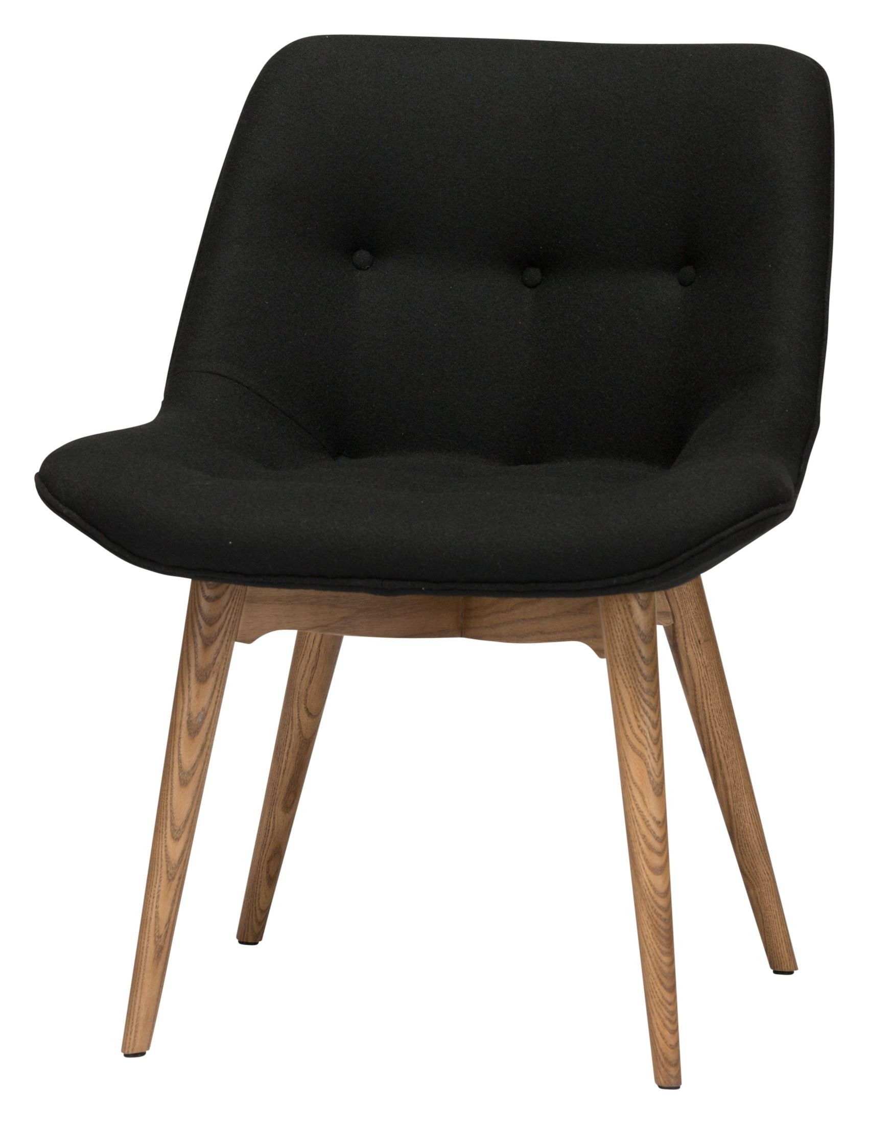 Brie black fabric dining chair hgem643 nuevo for Black and white fabric dining chairs