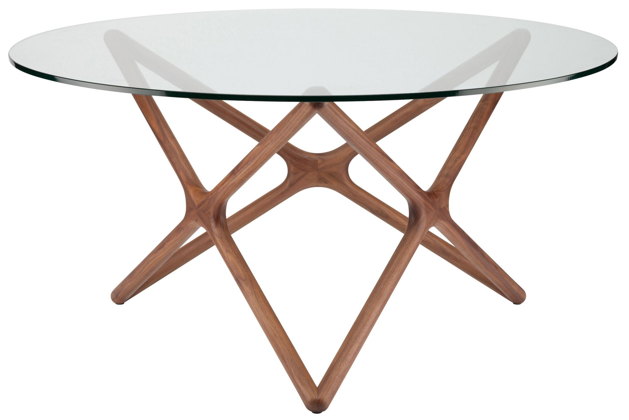 Star clear glass dining table hgem707 nuevo for Glass and wood dining table