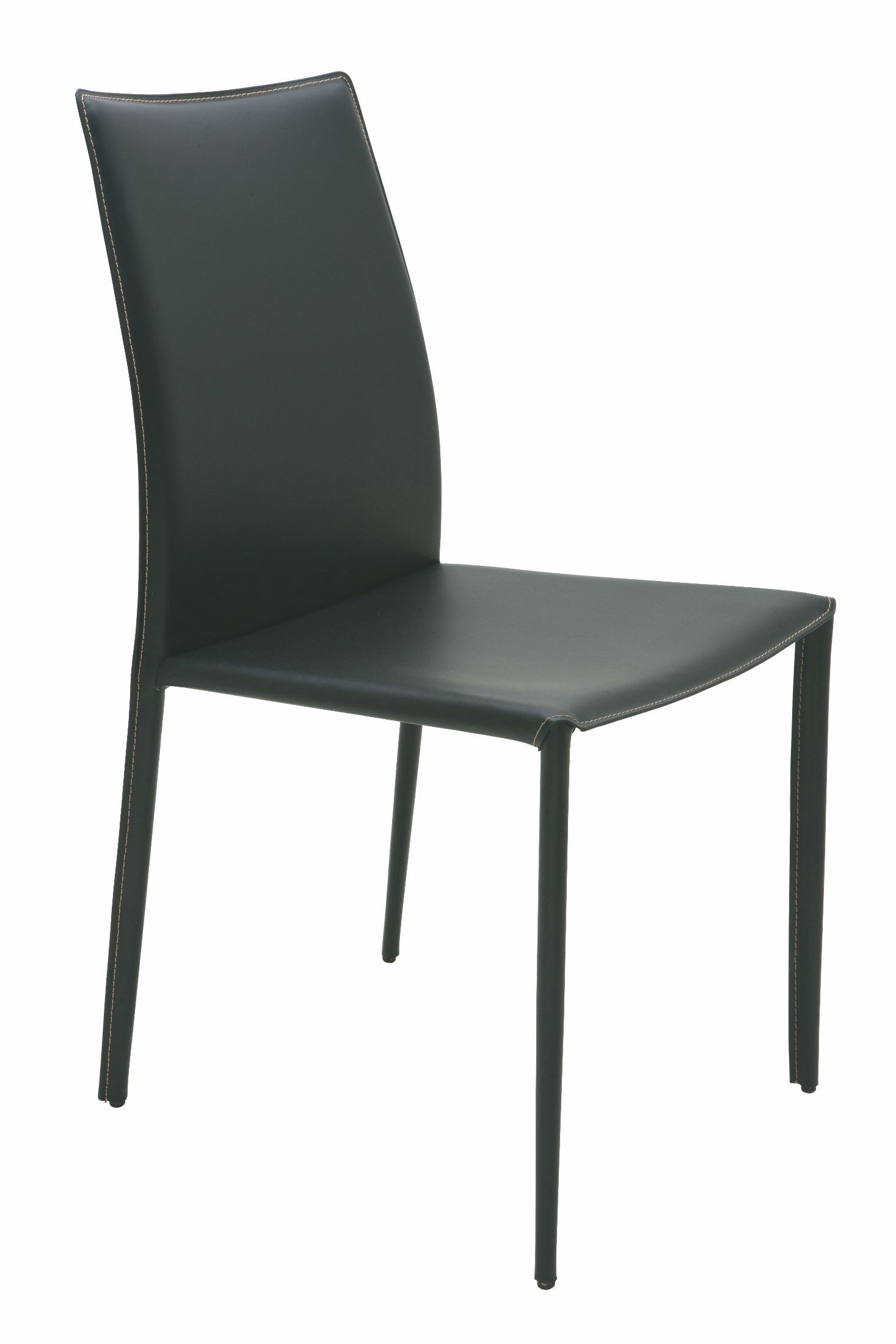 Sienna black leather dining chair hgga283 nuevo for Black leather dining chairs