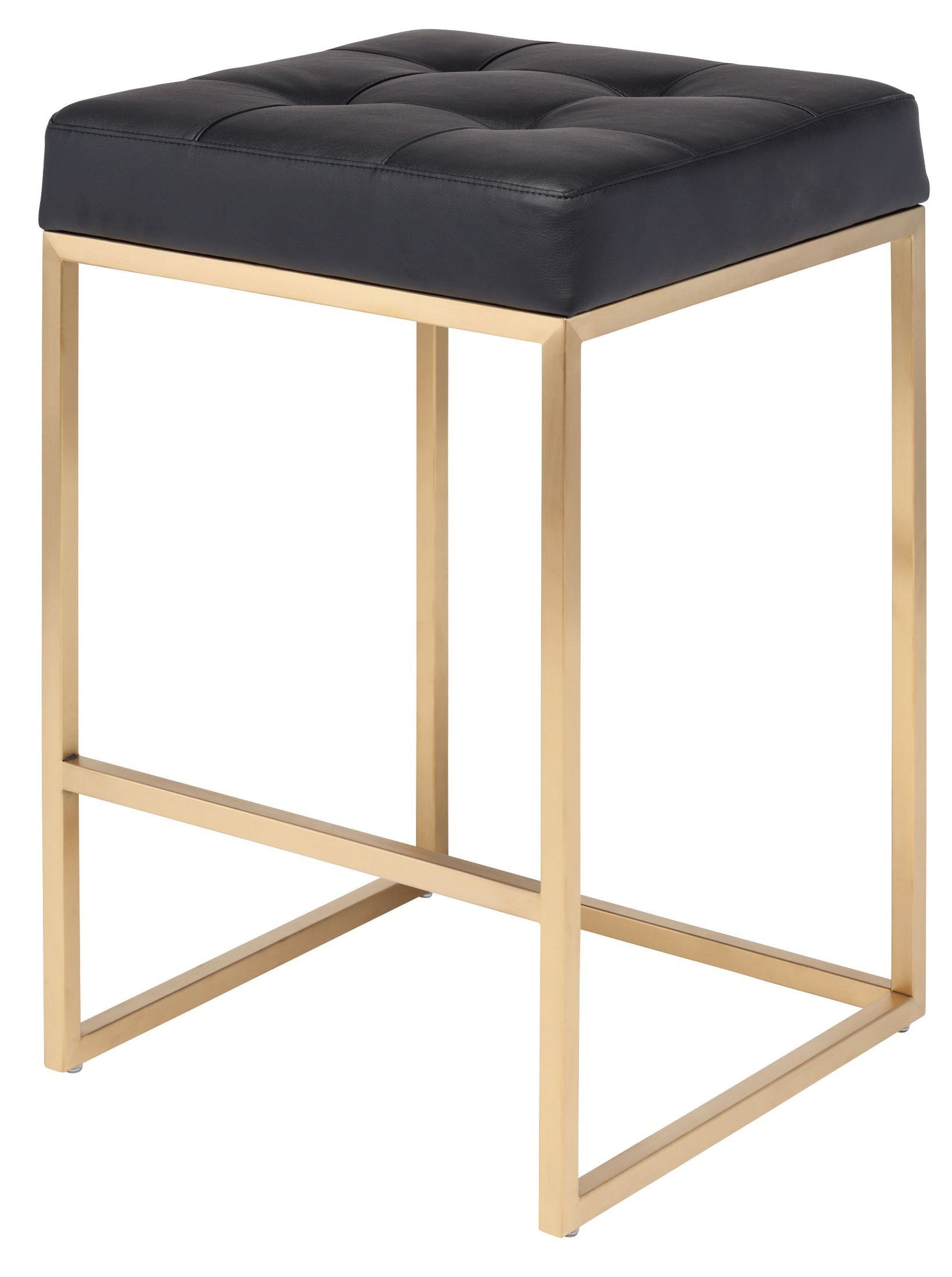 Chi Black Naugahyde Counter Stool Hgmm153 Nuevo