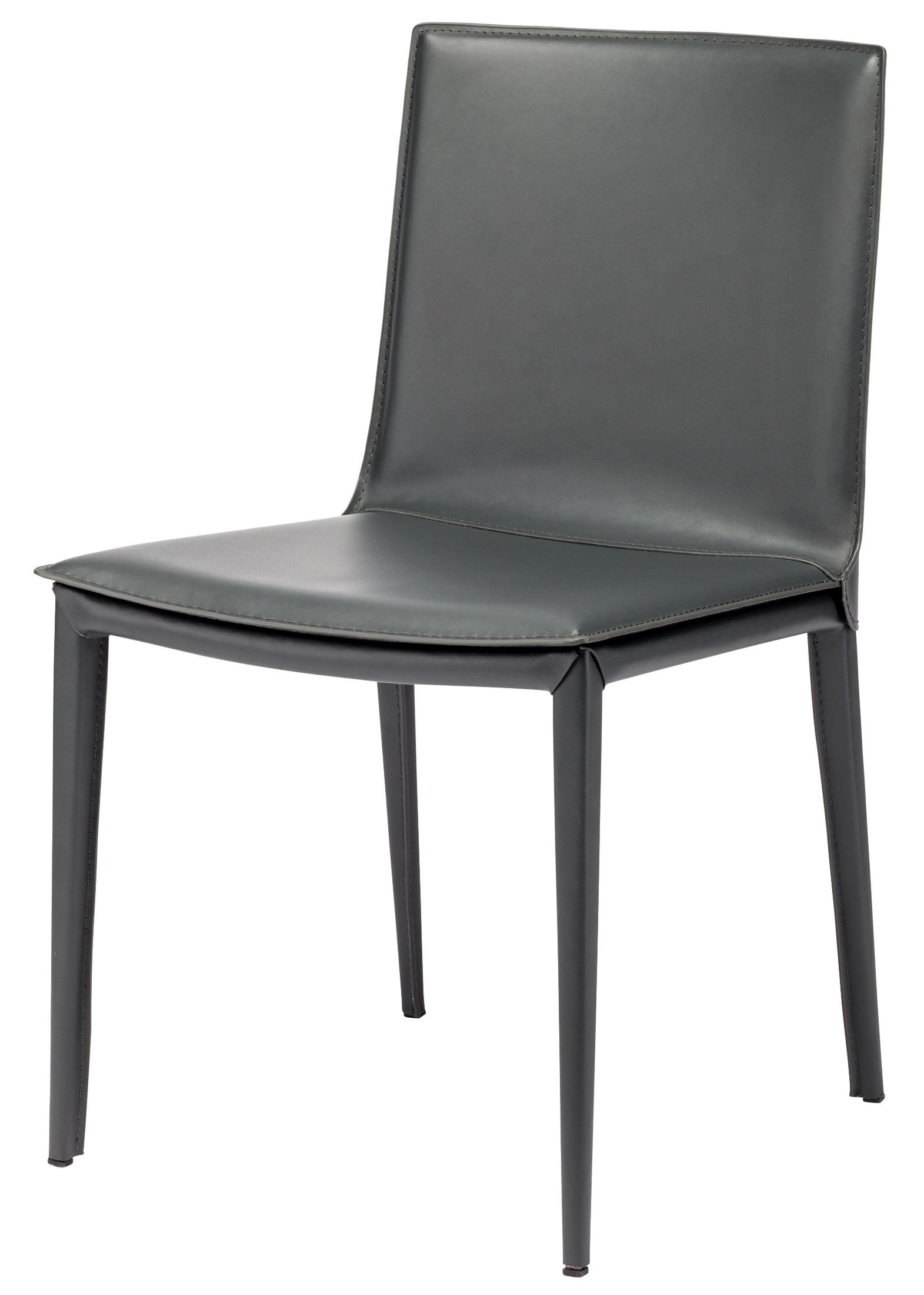palma grey leather dining chair hgnd100 nuevo. Black Bedroom Furniture Sets. Home Design Ideas