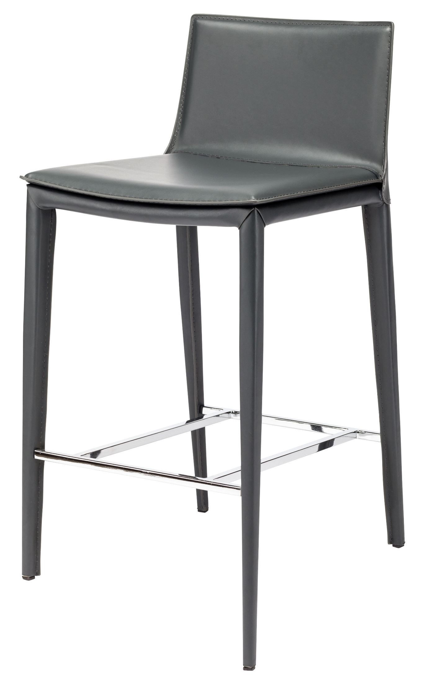 Palma Grey Leather Bar Stool Hgnd105 Nuevo
