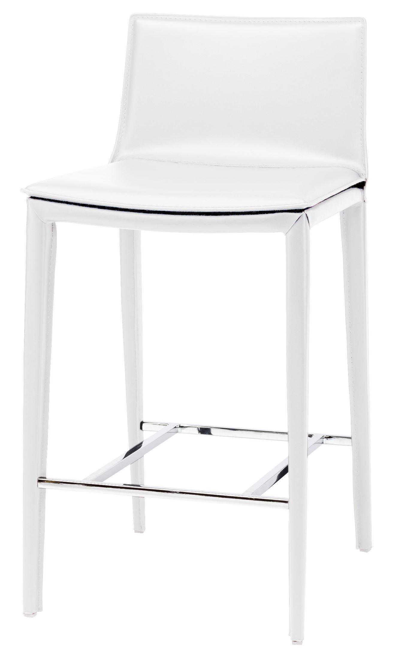 Palma White Leather Counter Stool Hgnd111 Nuevo