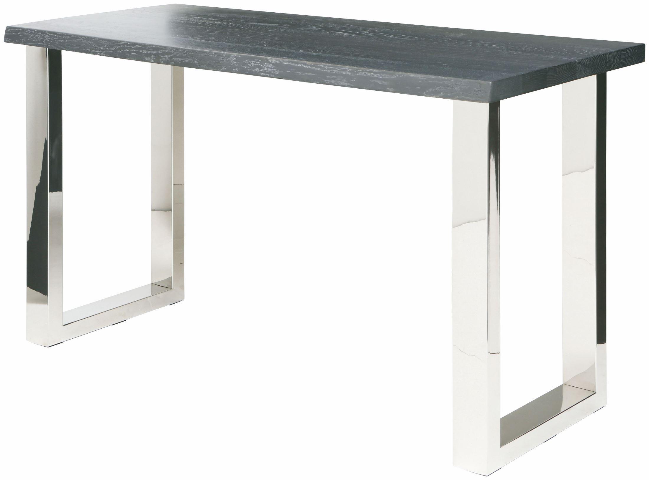 Lyon oxidized grey wood console table hgsr337 nuevo for Sofa table grey
