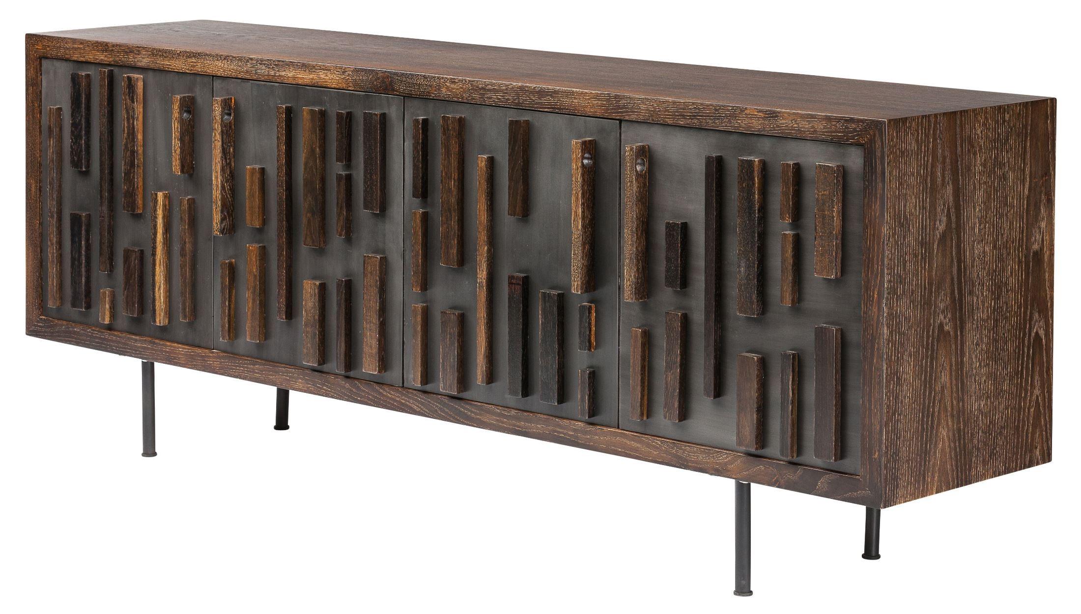 blok black metal large sideboard cabinet hgsr385 nuevo. Black Bedroom Furniture Sets. Home Design Ideas
