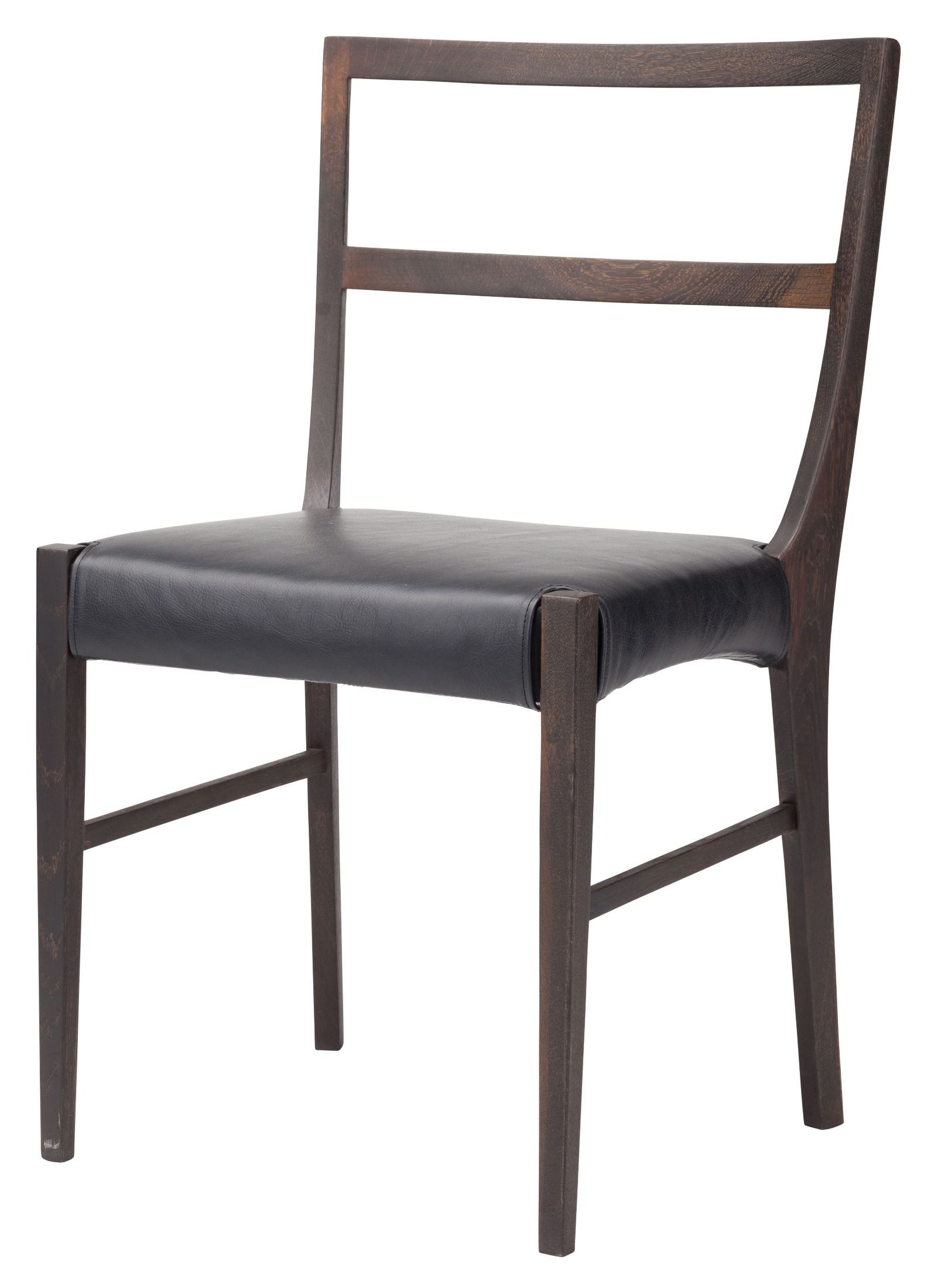 Hanna black leather dining chair hgsr564 nuevo for Black leather dining chairs