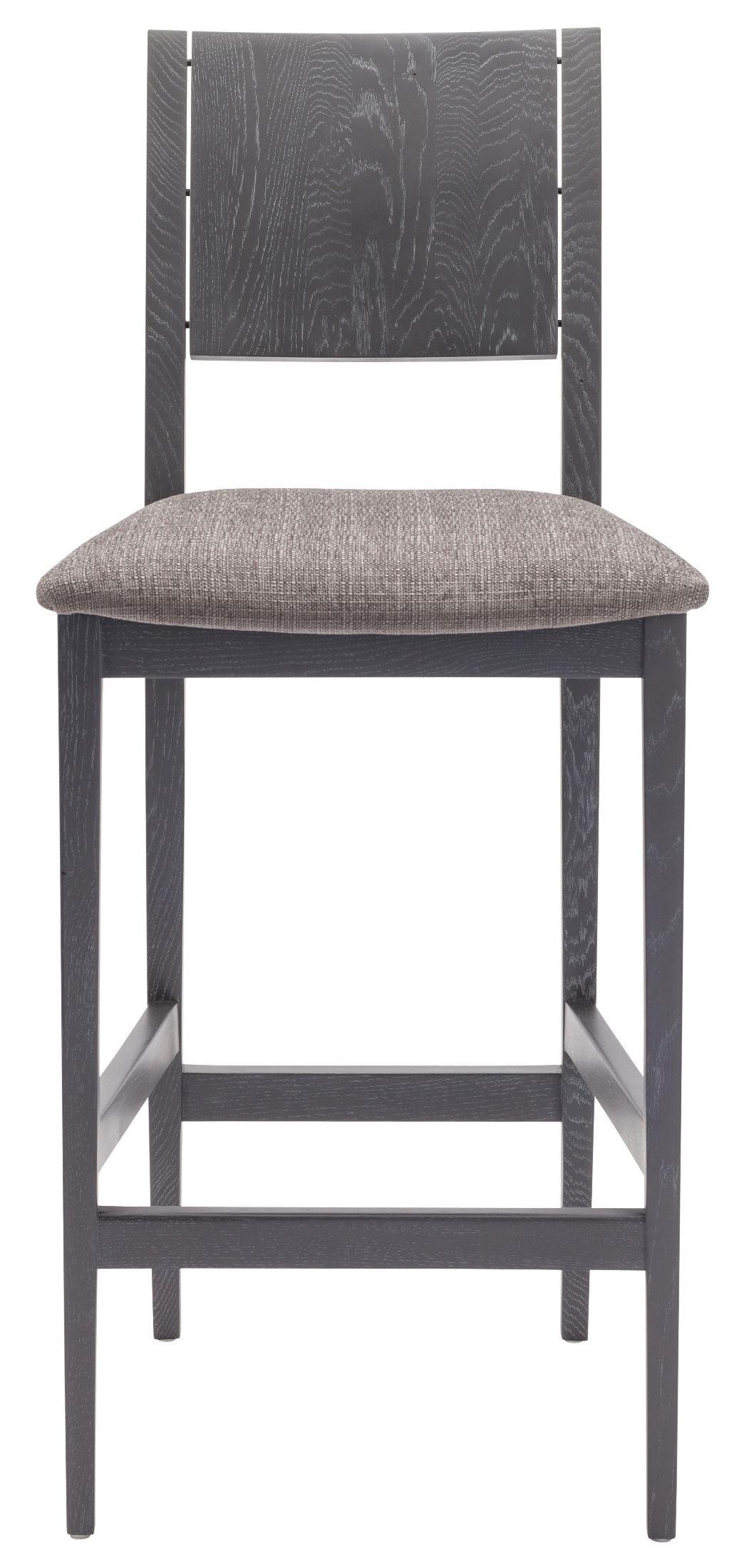 Eska Dark Grey Fabric Counter Stool Hgsr576 Nuevo
