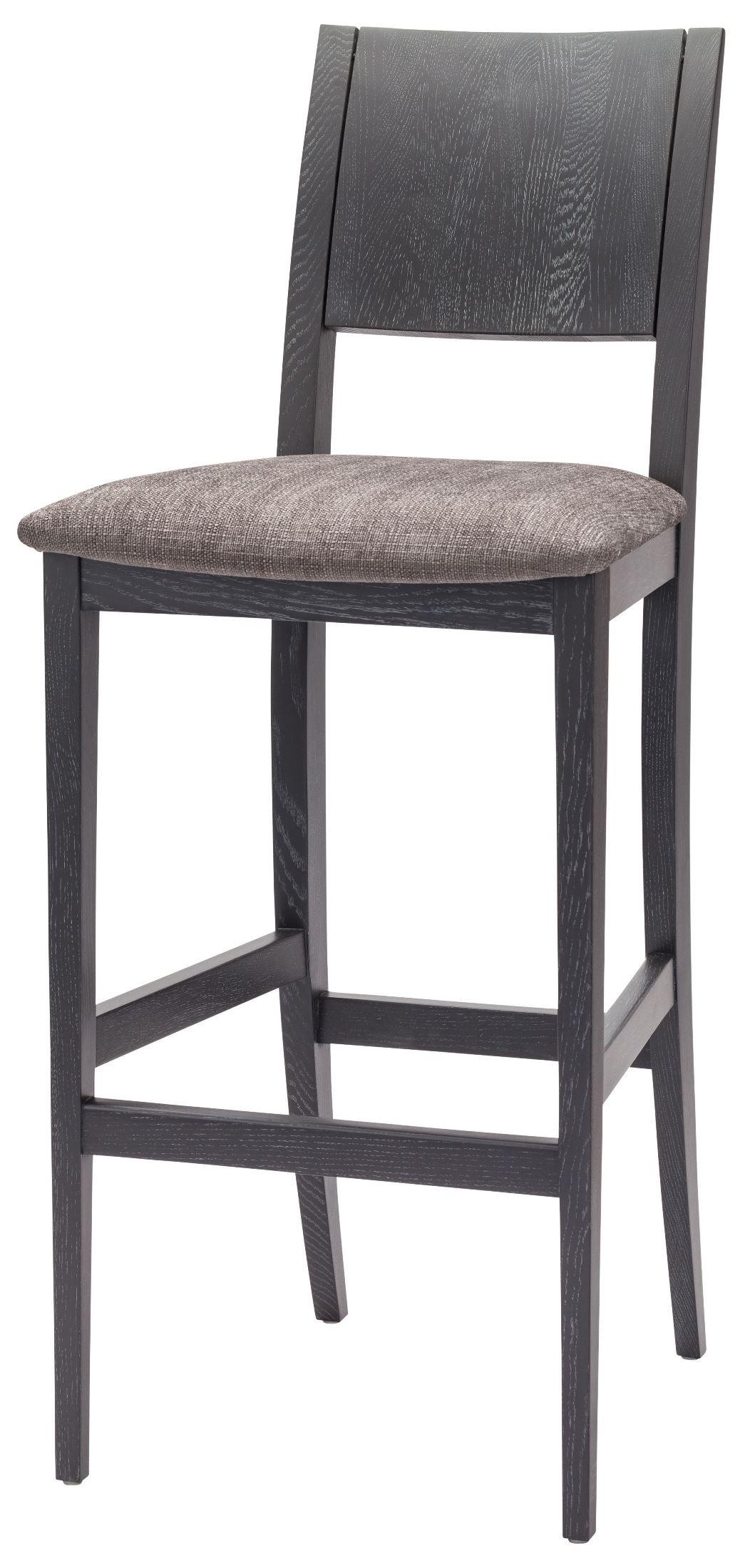 Eska Dark Grey Fabric Bar Stool Hgsr578 Nuevo