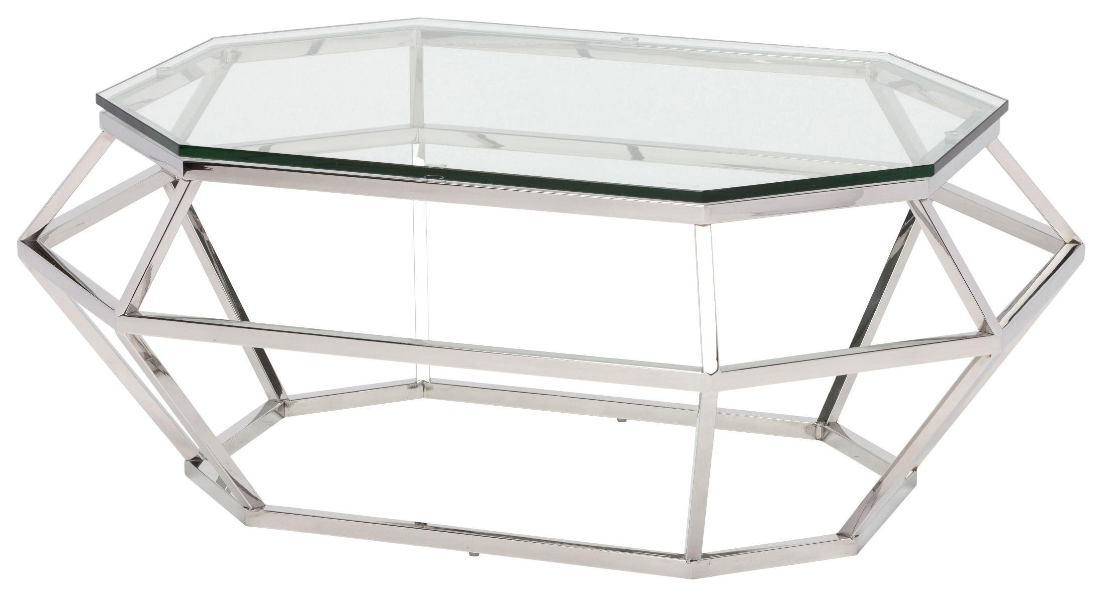 diamond clear glass coffee table hgsx183 nuevo. Black Bedroom Furniture Sets. Home Design Ideas