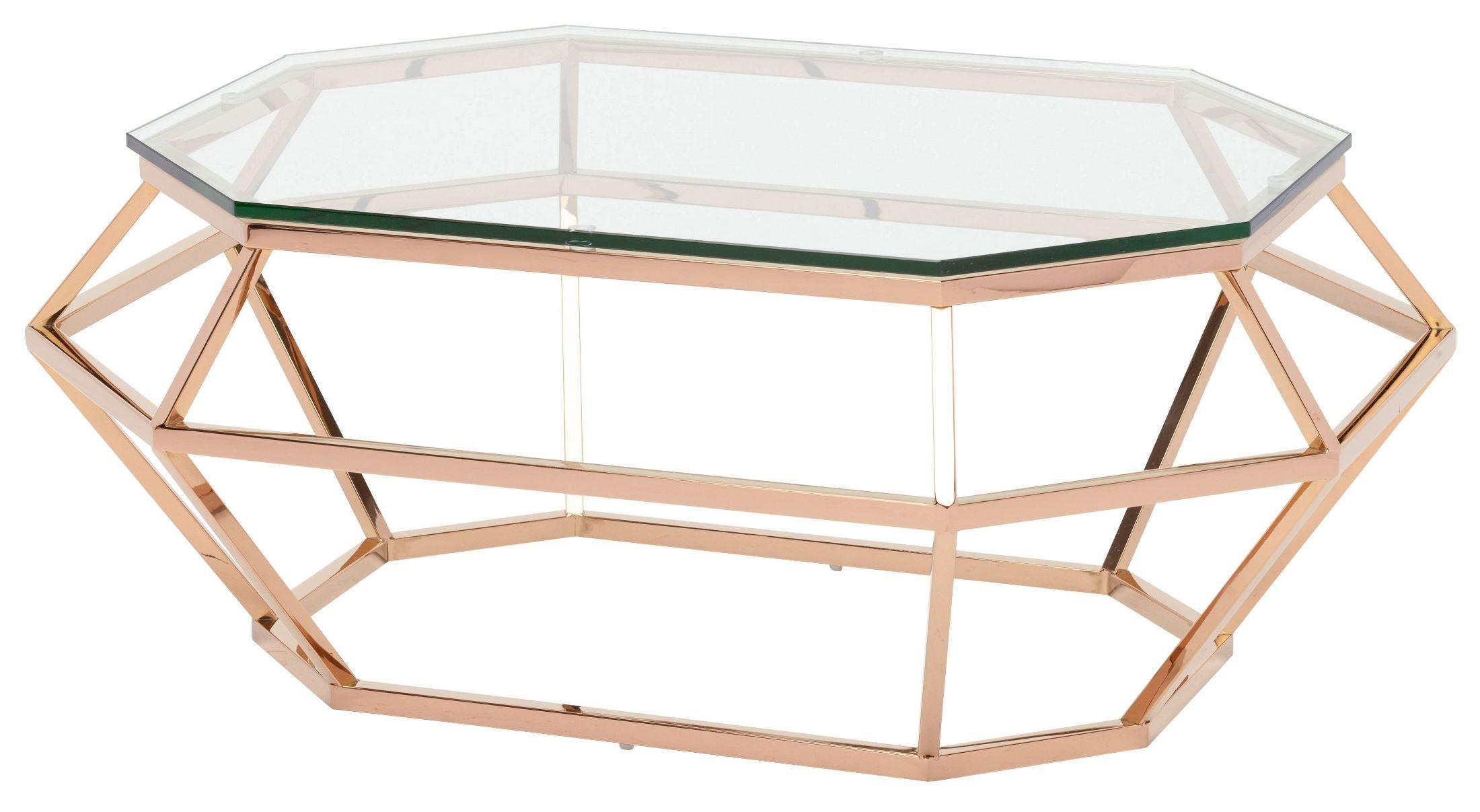Diamond Clear Glass Coffee Table Hgsx185 Nuevo
