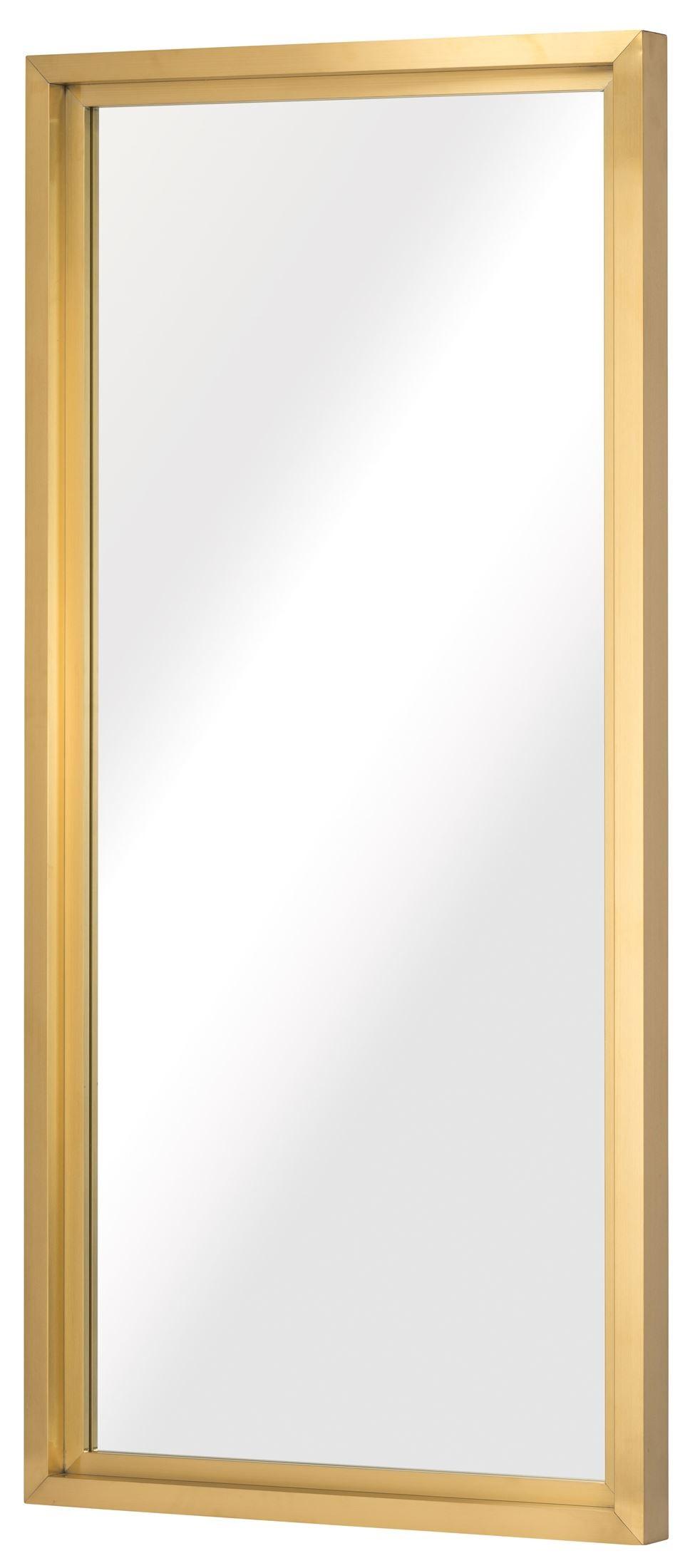 Glam gold metal floor mirror hgsx299 nuevo for Gold floor standing mirror