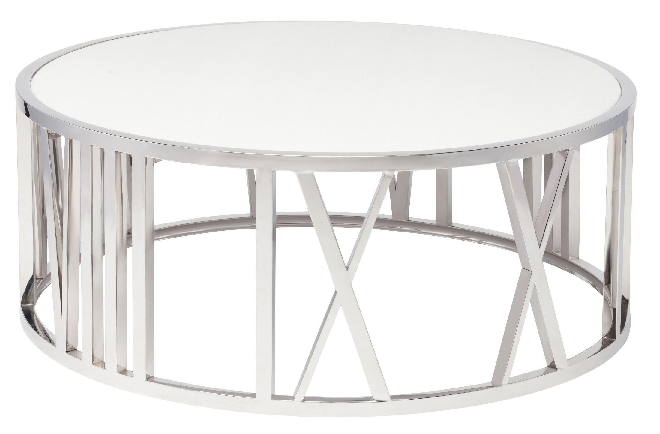 Roman White Stone Coffee Table Hgtb309 Nuevo