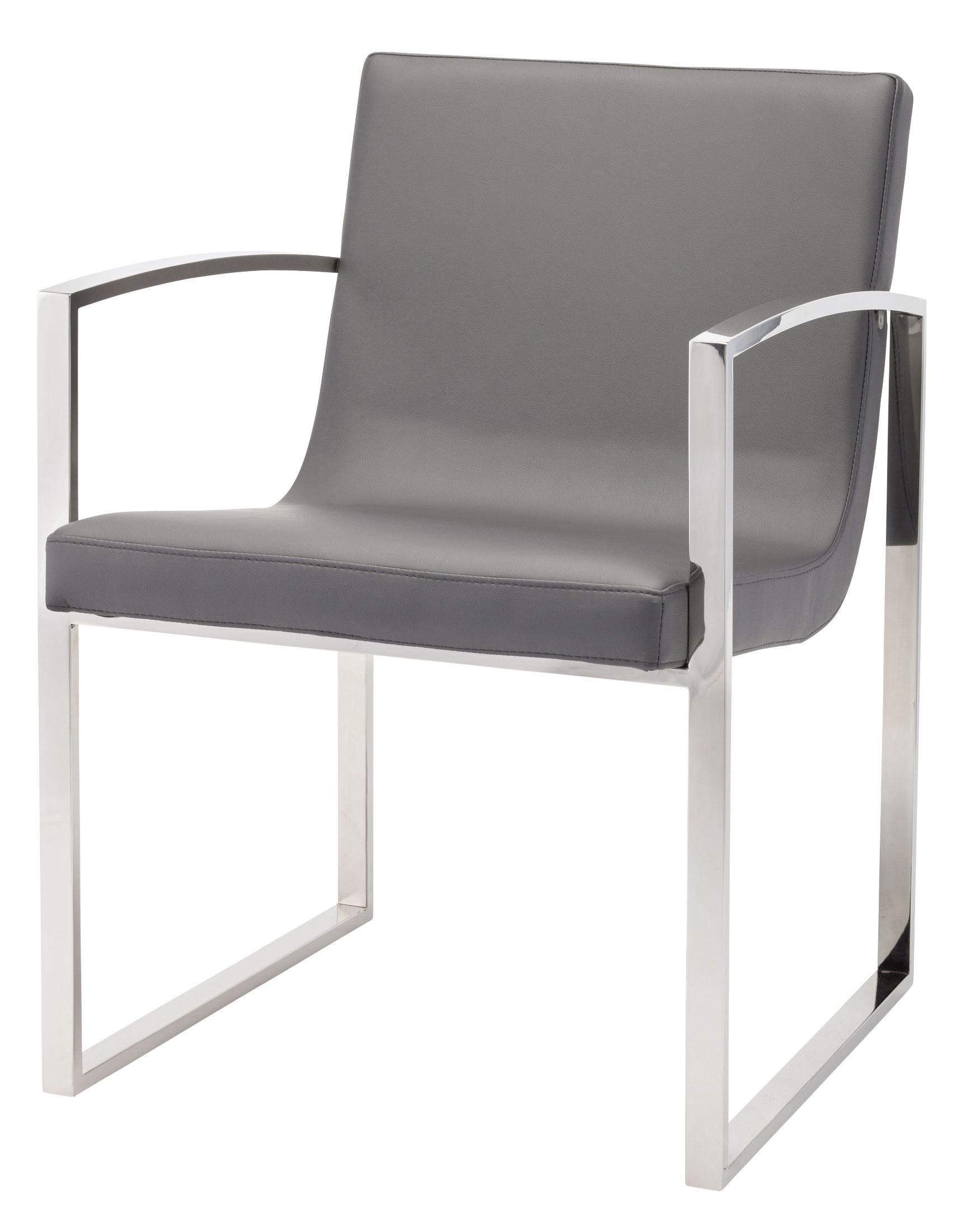 Clara Grey Naugahyde Dining Chair Hgtb382 Nuevo