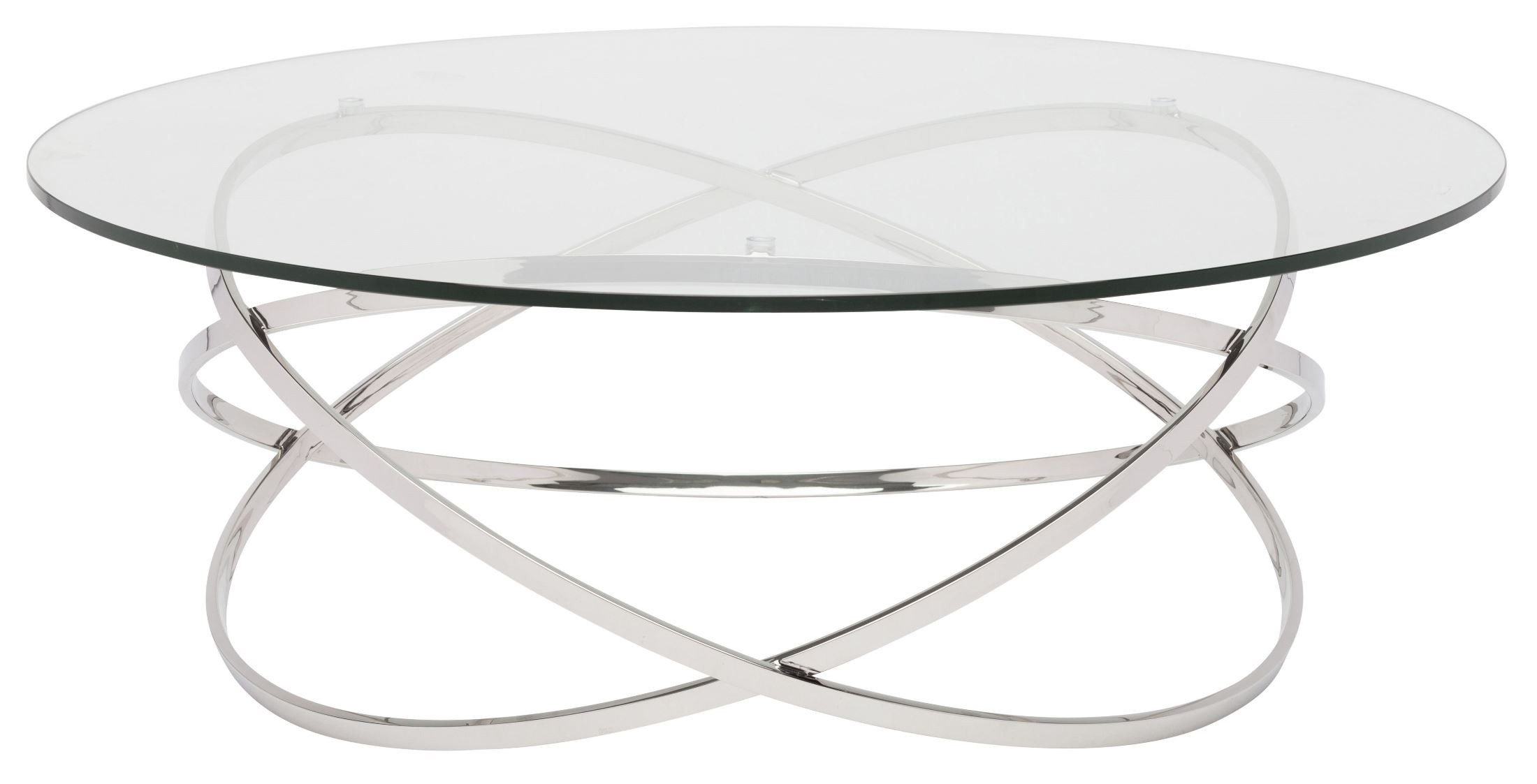 Corel Silver Clear Glass Coffee Table Hgtb405 Nuevo