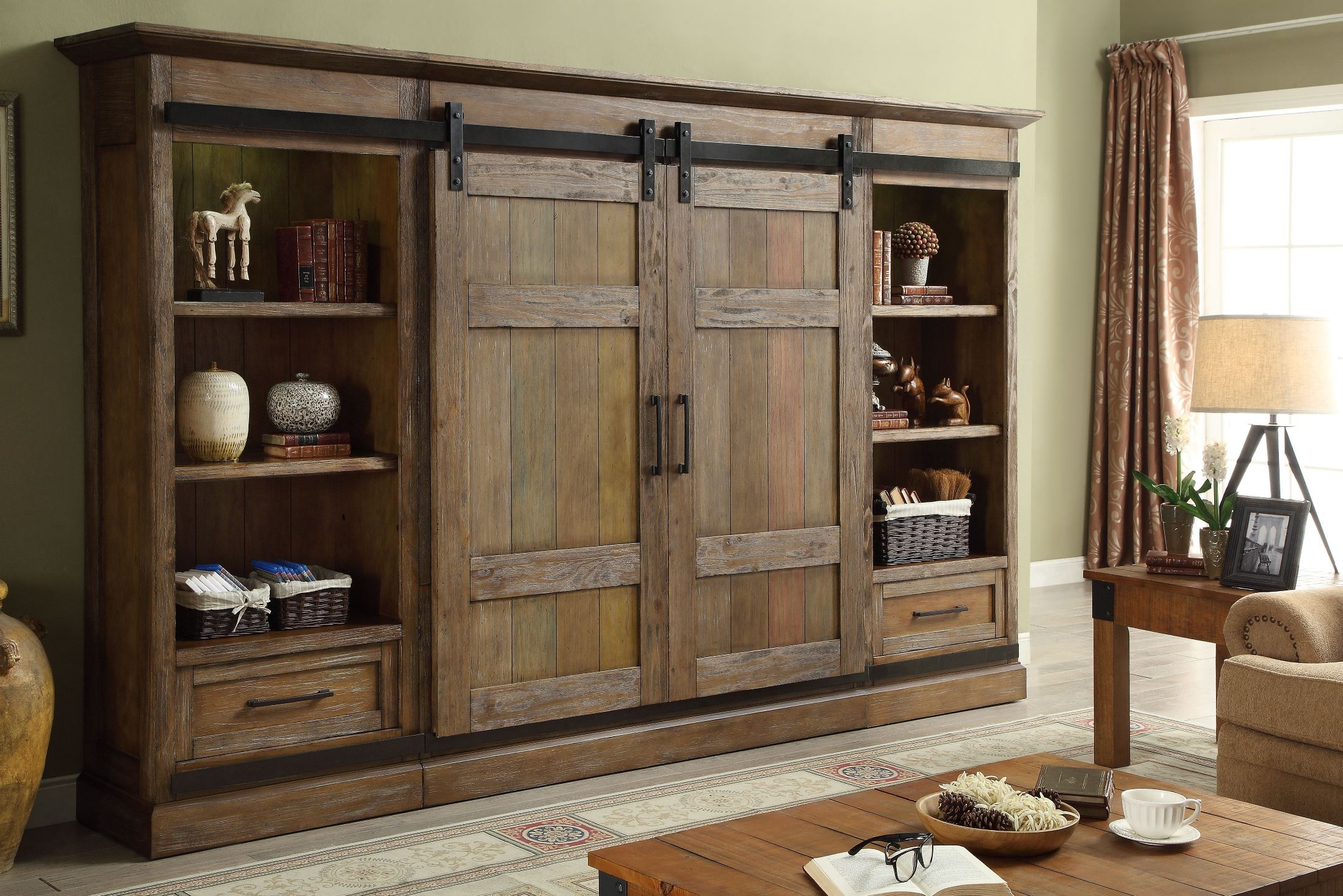 Hunts Point Vintage Weathered Pine Sliding Door