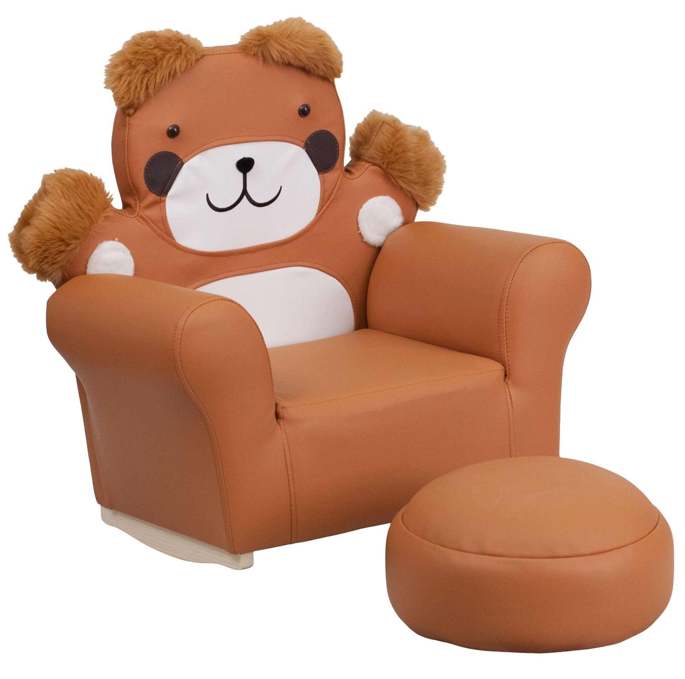 Kids Bear Rocker Chair And Footrest From Renegade HR 31
