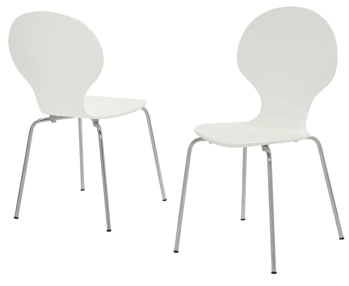 1048 white bentwood chrome metal dining chairs set of 4 for White chrome dining chairs