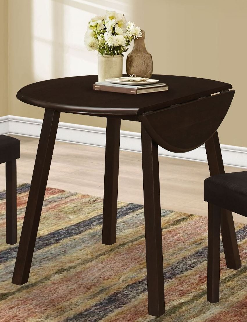 Cappuccino 36 round dining table 1177 monarch for 36 round dining table