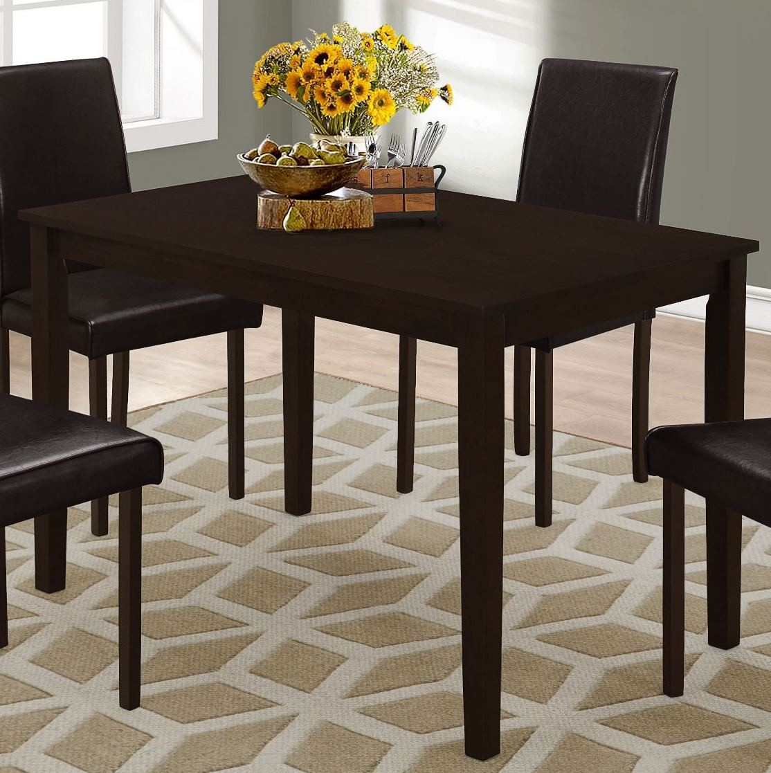 cappuccino 48 rectangular dining table 1178 monarch. Black Bedroom Furniture Sets. Home Design Ideas