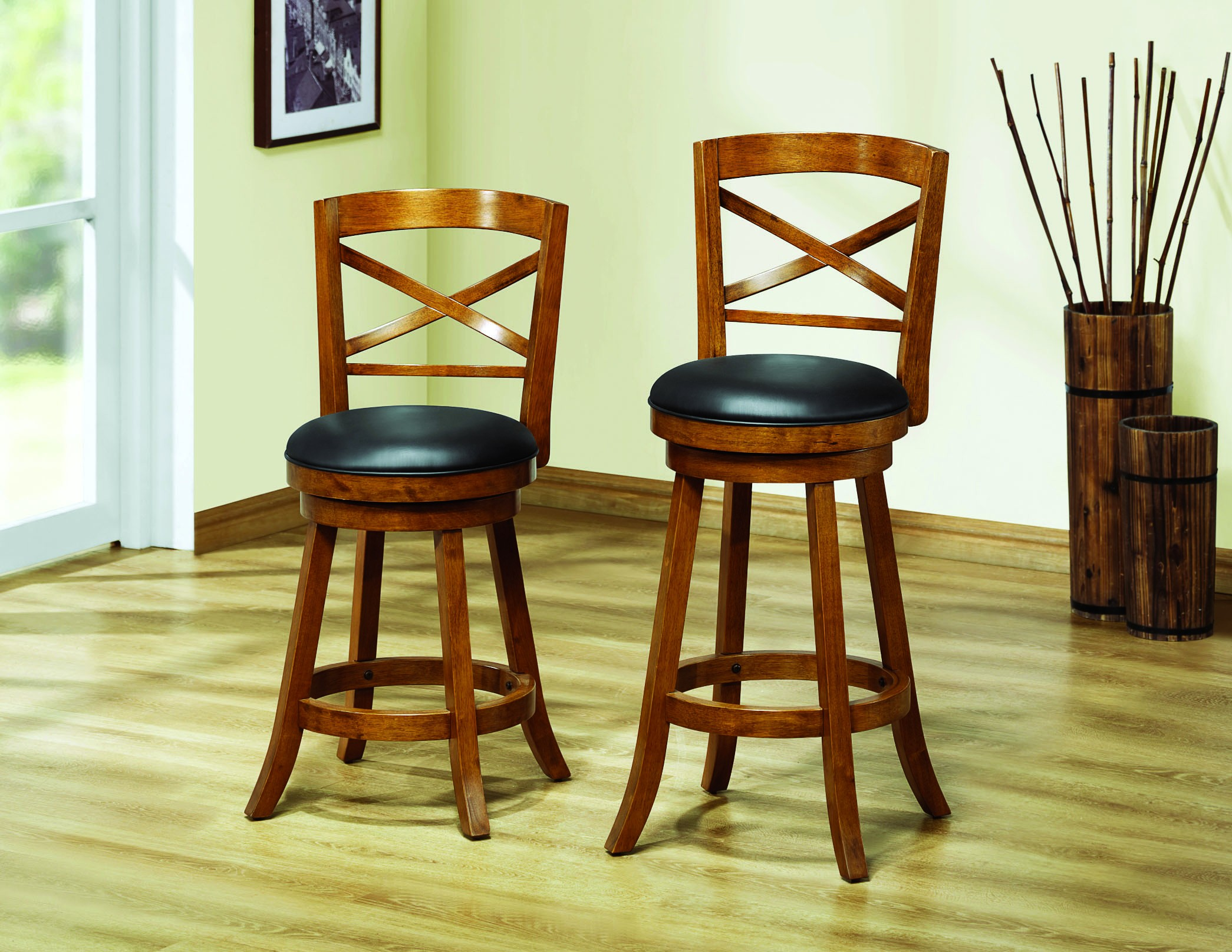 Wonderful image of 1254 Dark Oak Solid Wood 39 Swivel Counter Stool Set of 2 I 1254  with #713809 color and 2090x1615 pixels