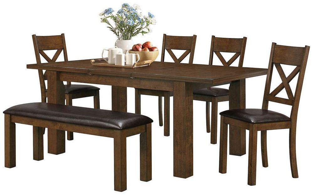 walnut dining room set 1550 monarch