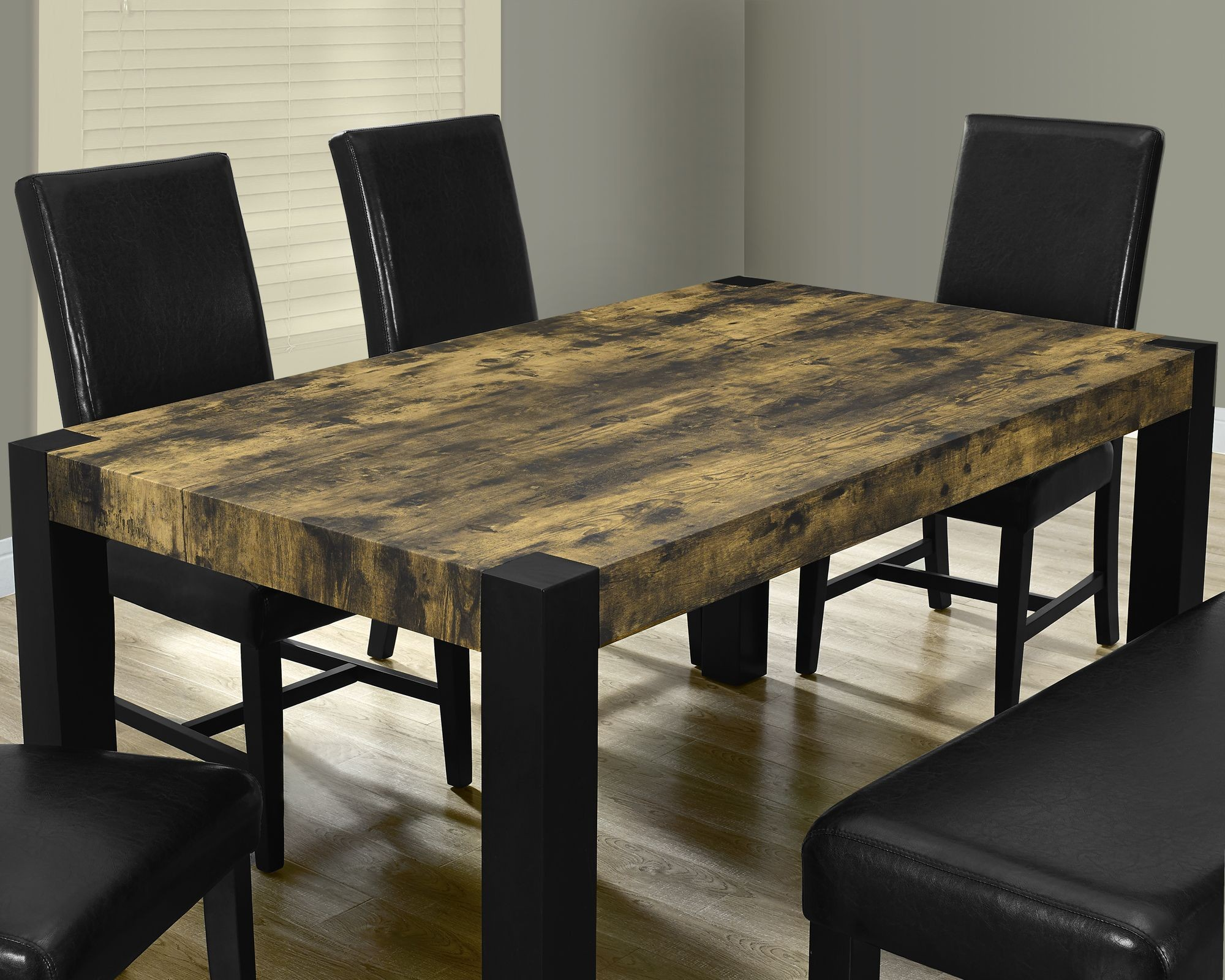 distressed black dining room set 1620 monarch