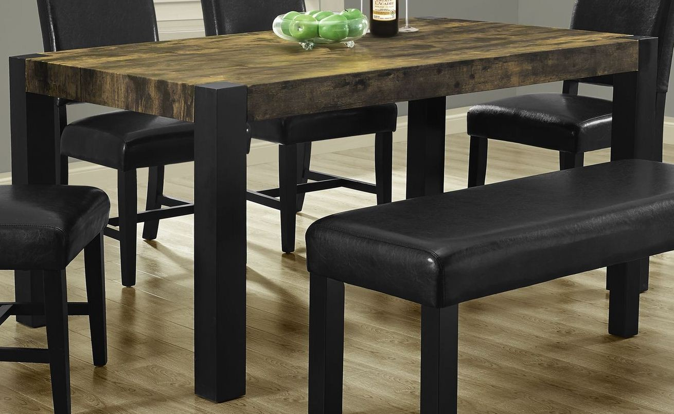 Distressed Black Dining Table From Monarch 1620 Coleman Furniture