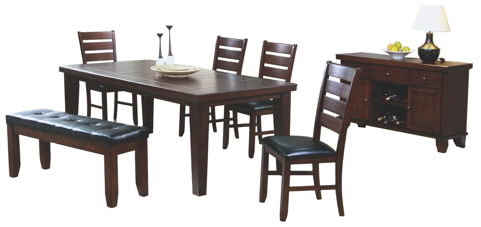 Dark oak dining table from monarch 1830 coleman furniture for Dark oak dining table