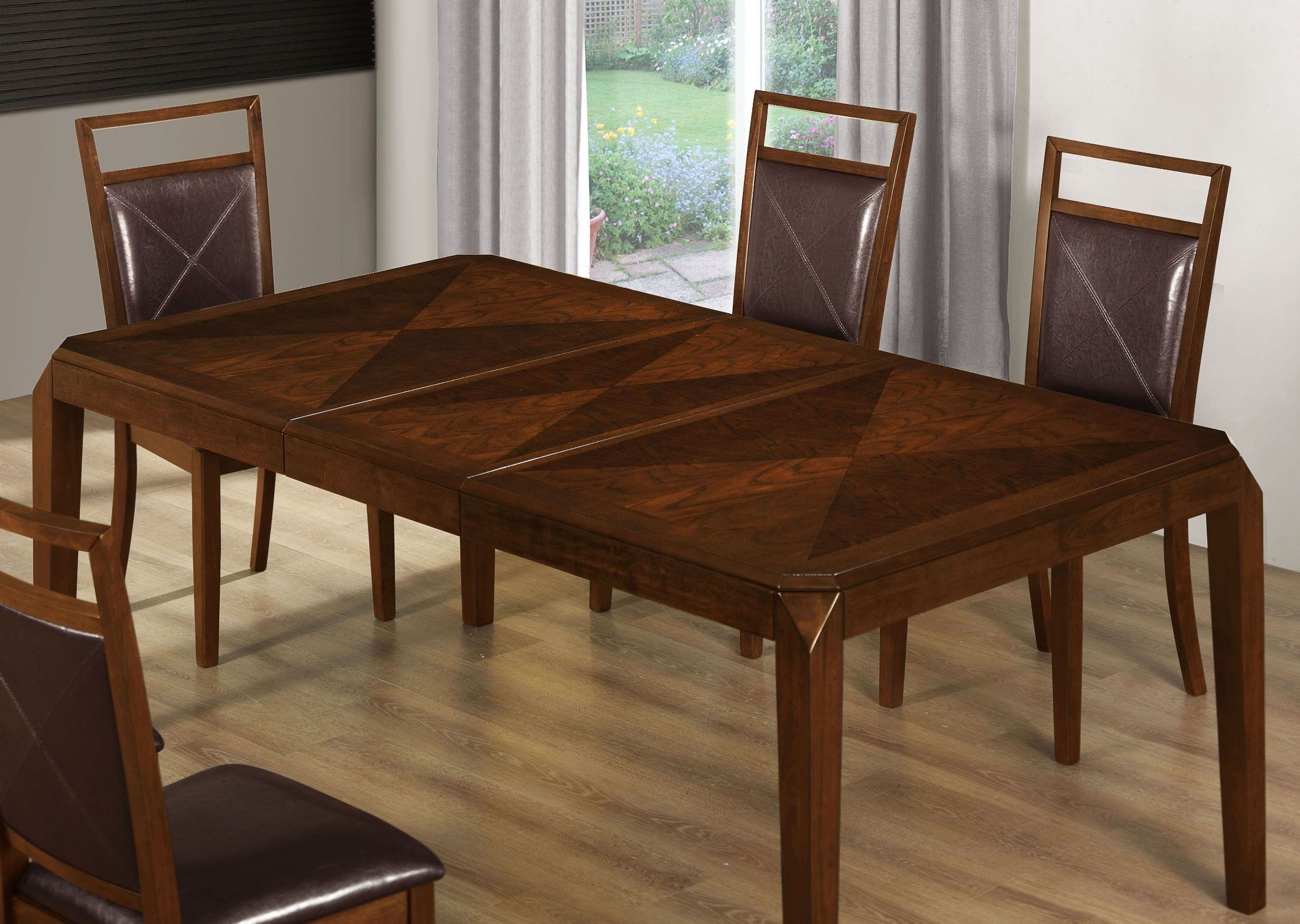 Brown Oak Extendable Dining Room Set From Monarch 1935 Coleman Furniture